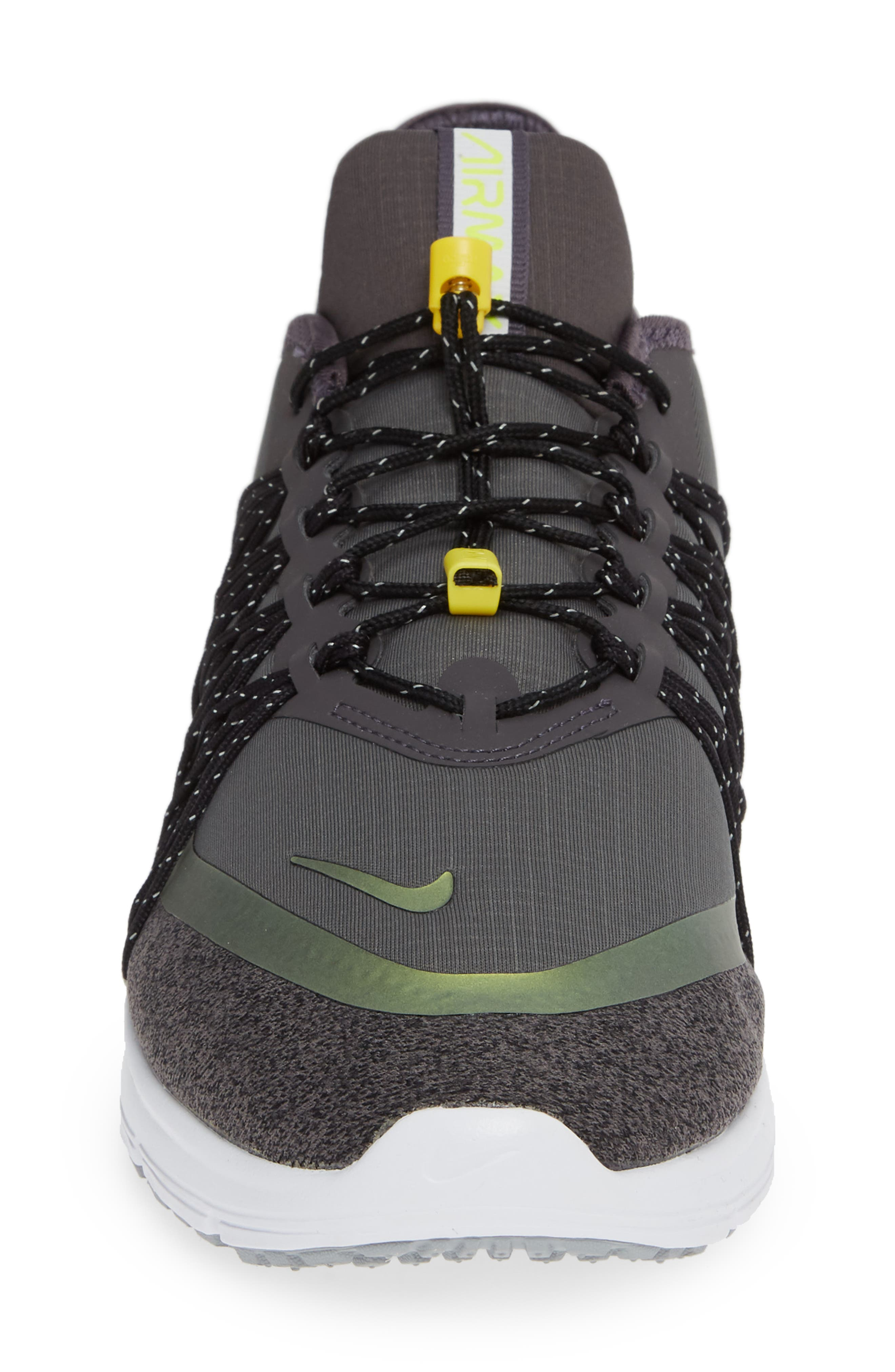 Air Max Sequent 4 Utility Running Shoe,                             Alternate thumbnail 4, color,                             THUNDER GREY/ VOLT