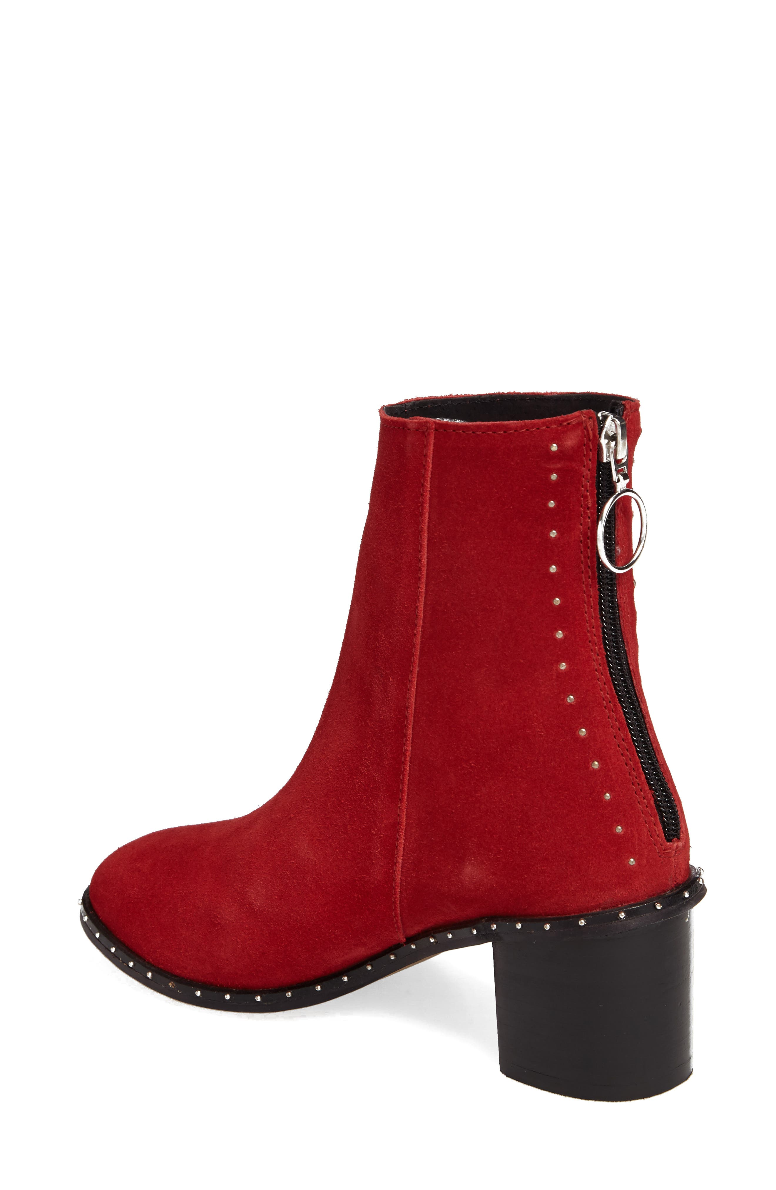 Miranda Studded Bootie,                             Alternate thumbnail 2, color,                             RED