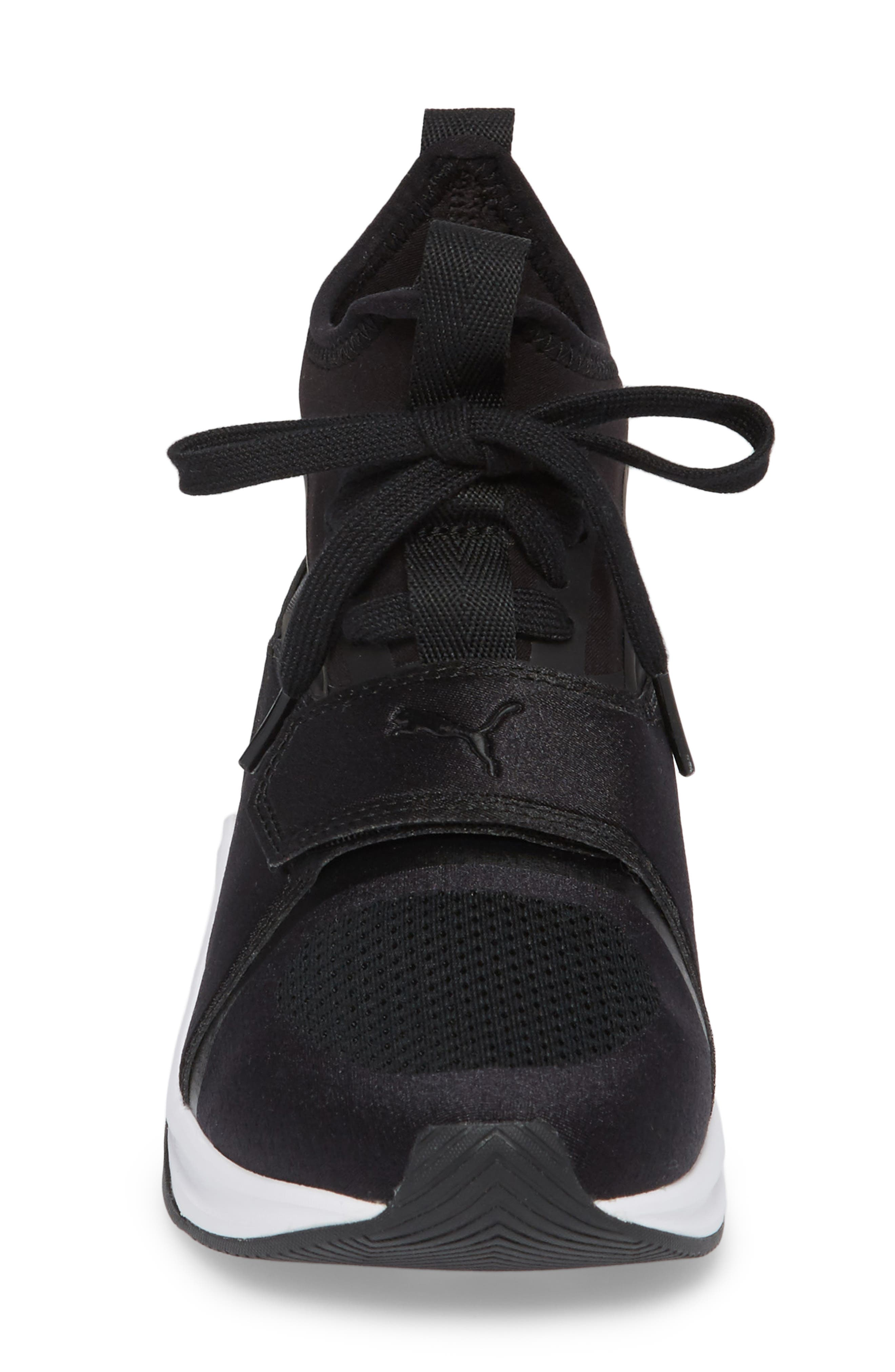 Phenom Jr High Top Sneaker,                             Alternate thumbnail 4, color,                             001