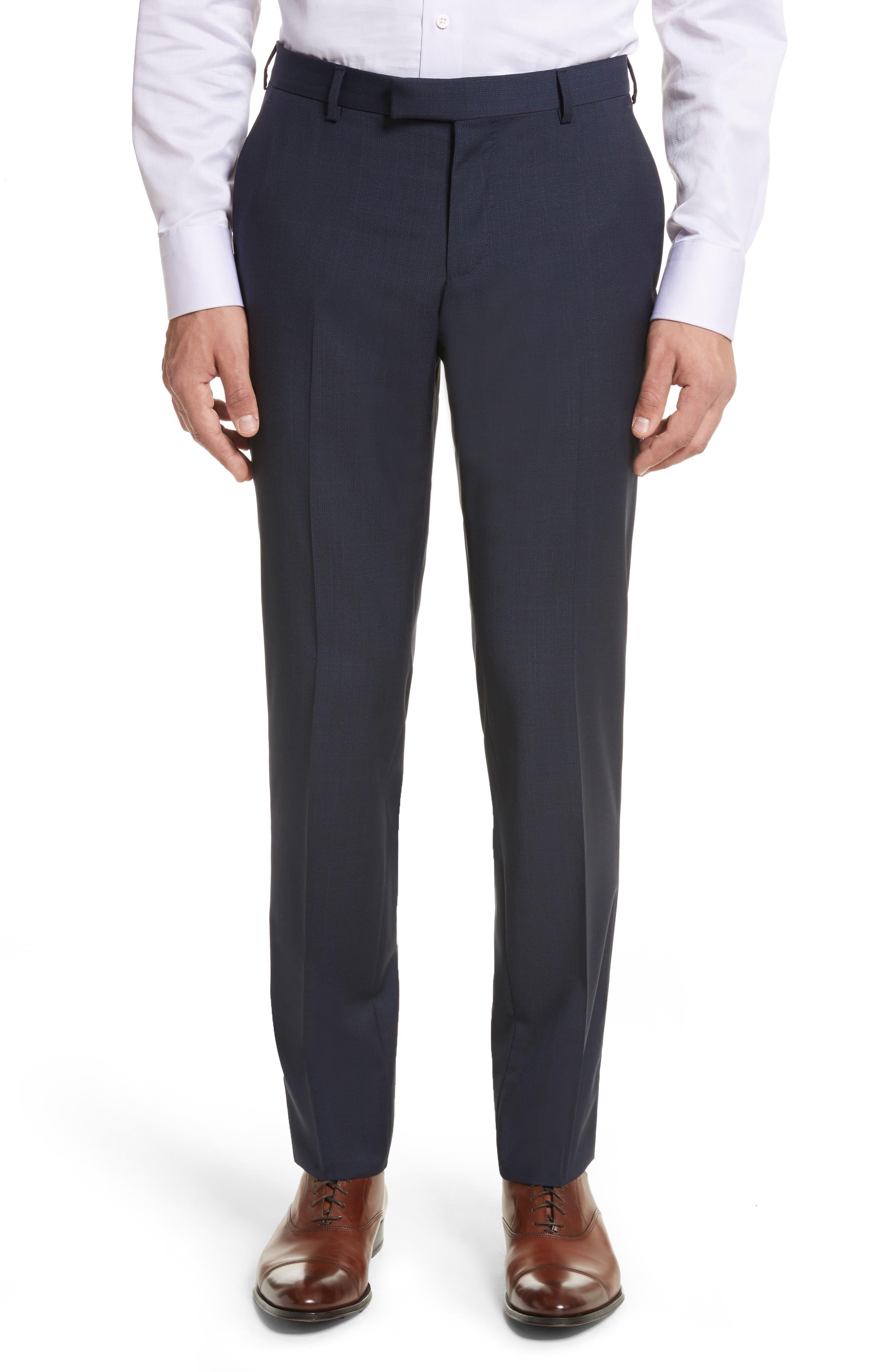 Classic Fit Check Wool Suit,                             Alternate thumbnail 6, color,                             416