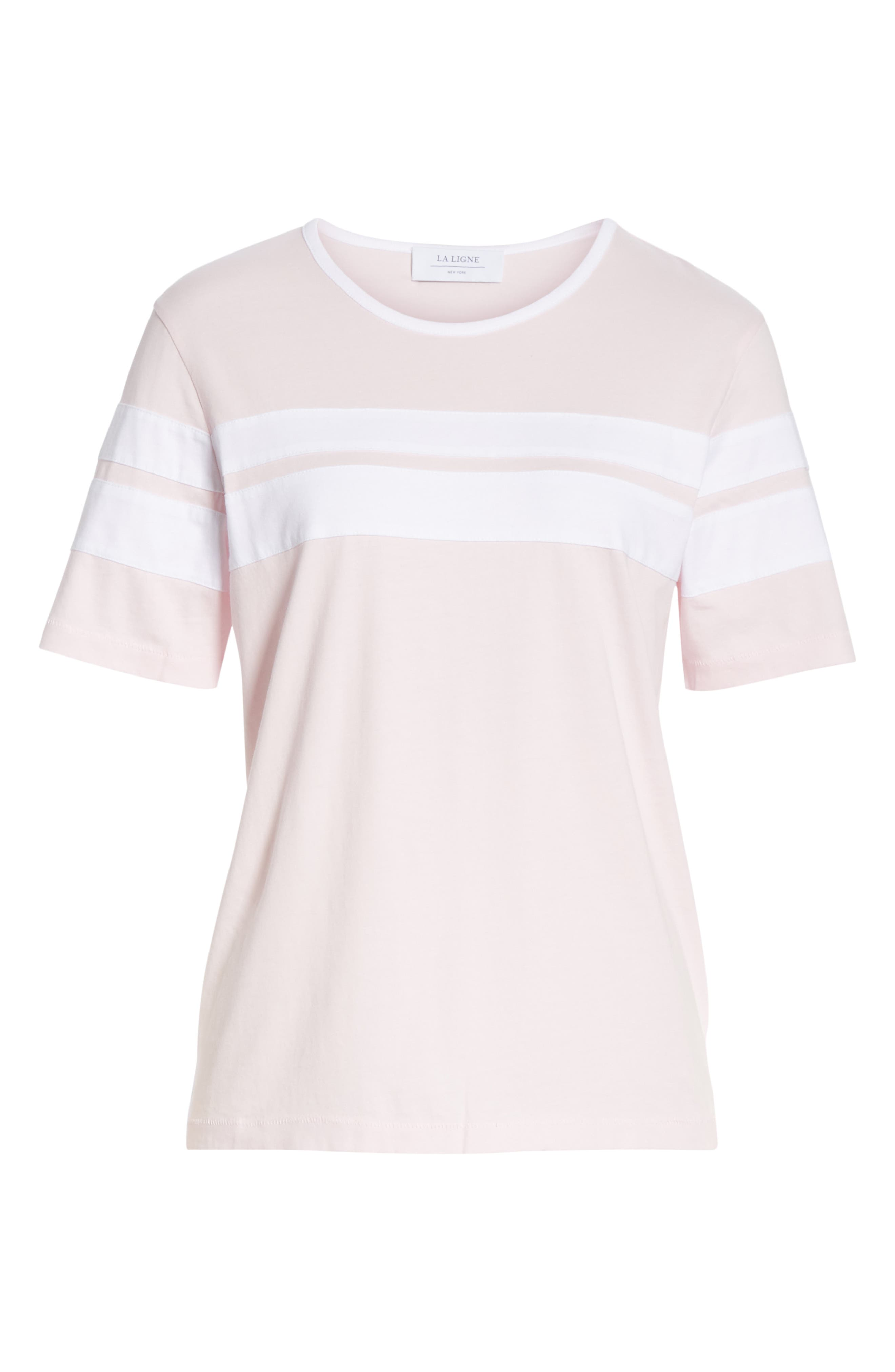 Double Stripe Cotton Tee,                             Alternate thumbnail 6, color,                             650