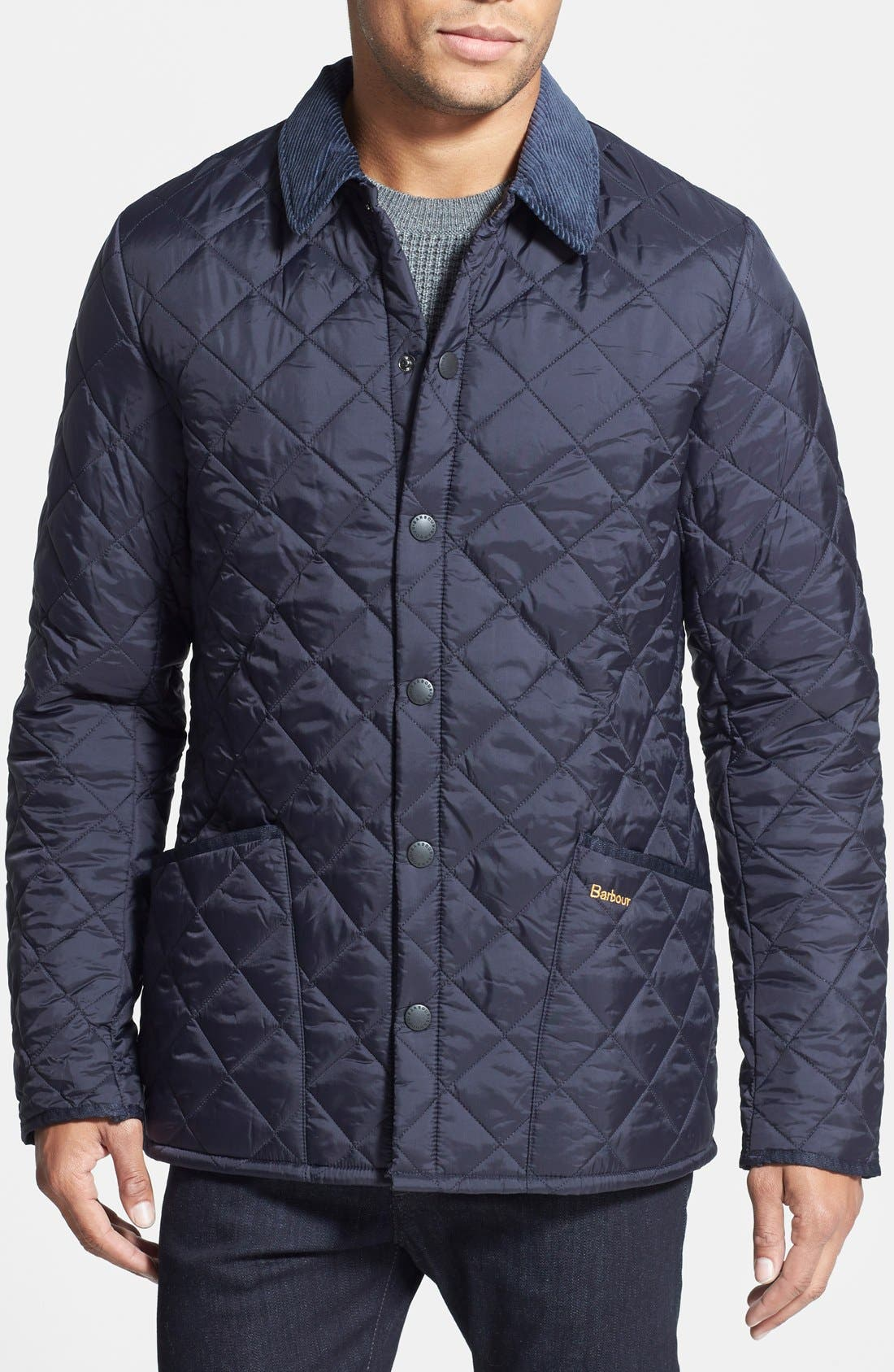 'Heritage Liddesdale' Slim Fit Quilted Jacket,                             Main thumbnail 1, color,                             NAVY