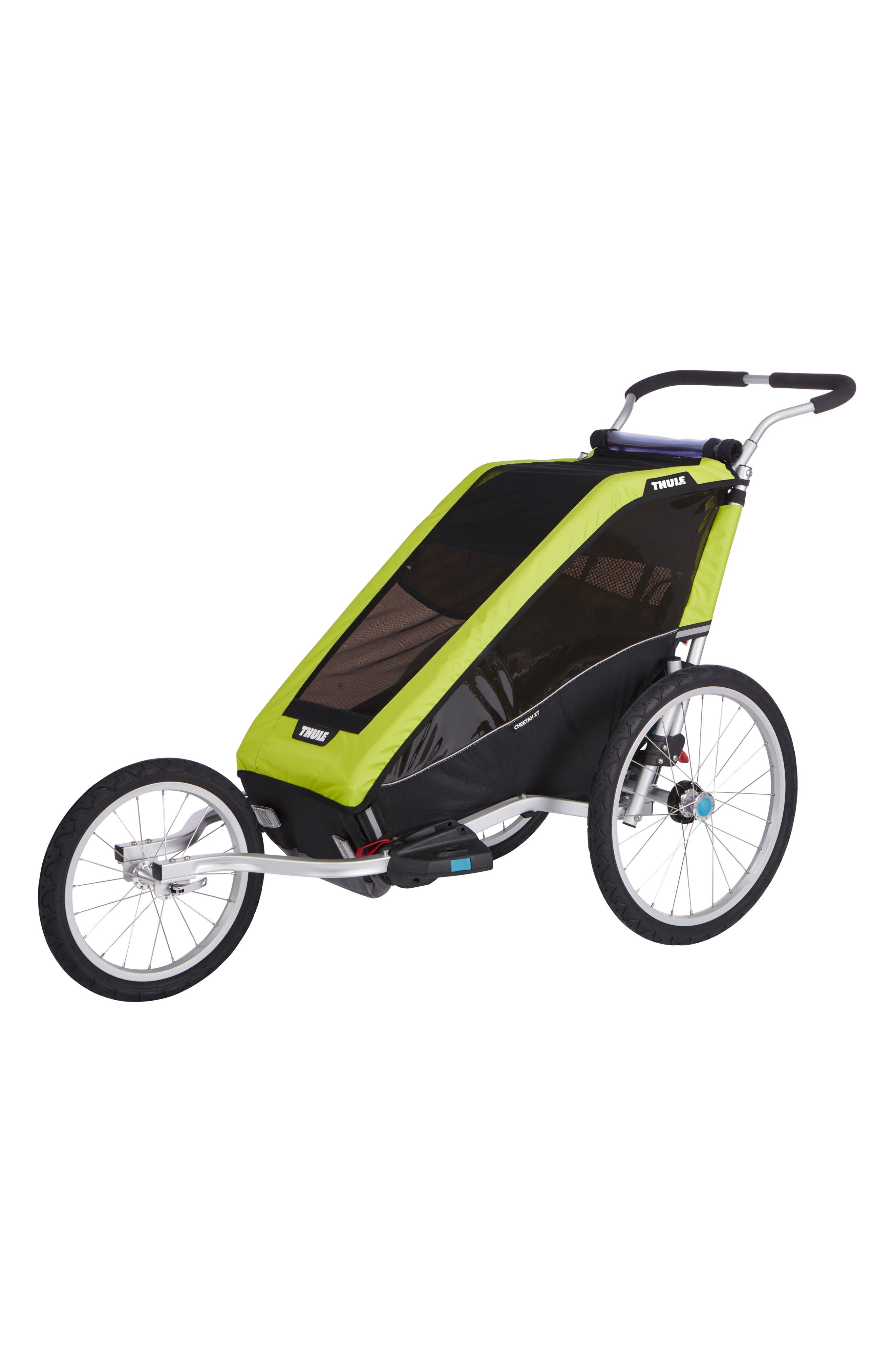 Chariot Cheetah XT 2 Multisport Cycle Trailer/Stroller,                             Alternate thumbnail 5, color,                             CHARTREUSE