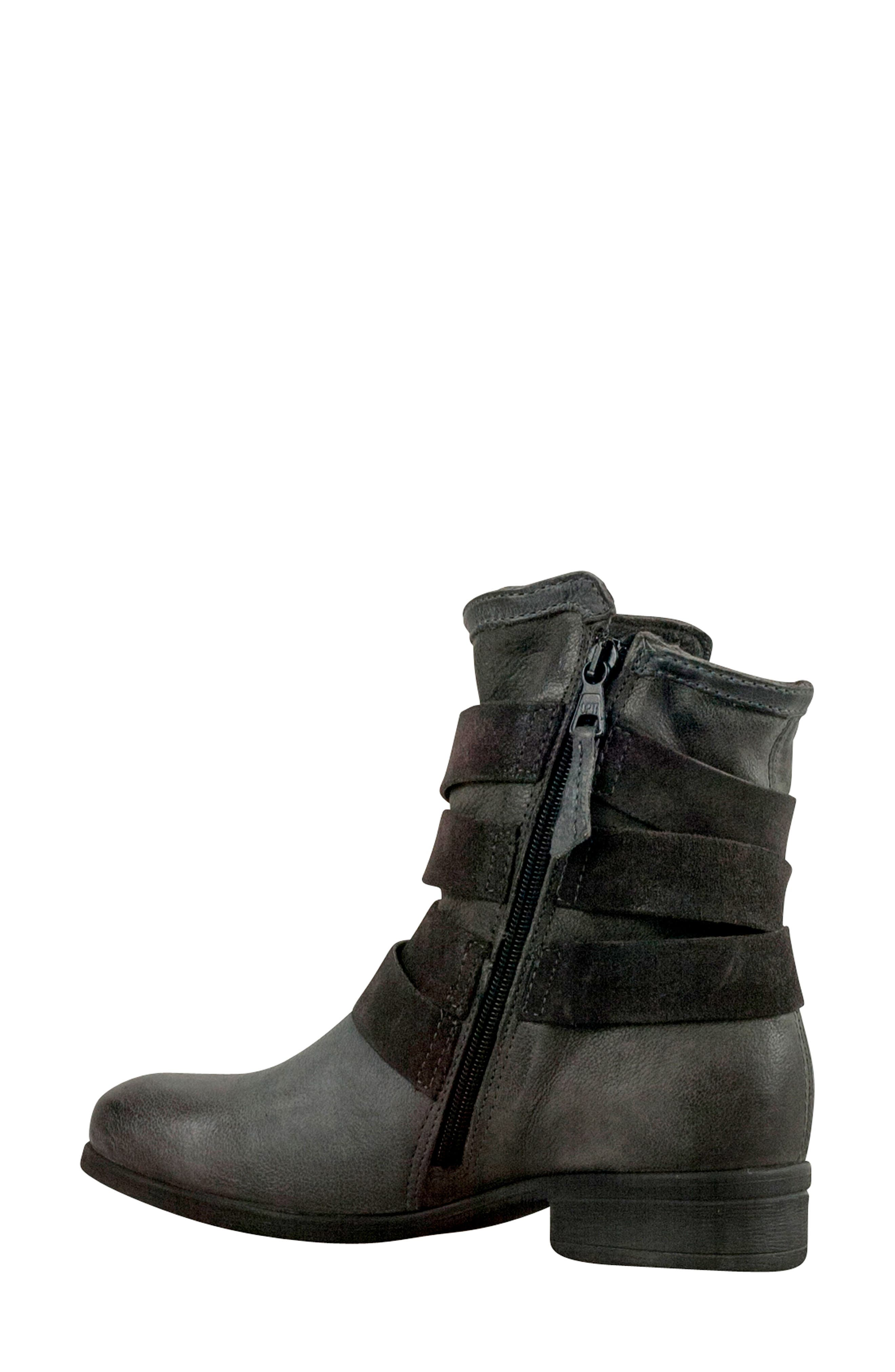 Savvy Buckle Bootie,                             Alternate thumbnail 2, color,                             GRANITE LEATHER