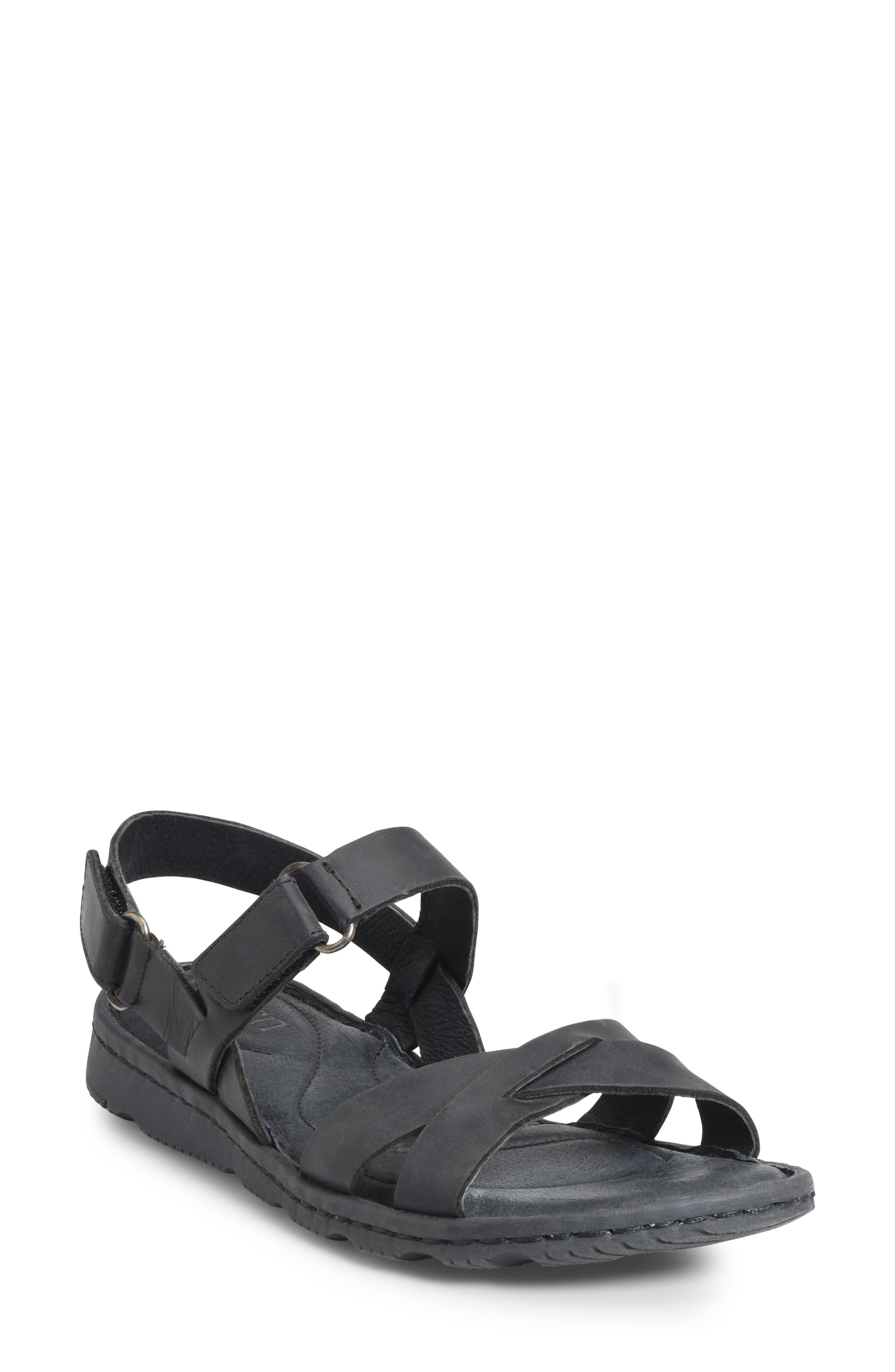 B?rn Jemez Cross Strap Sandal, Black