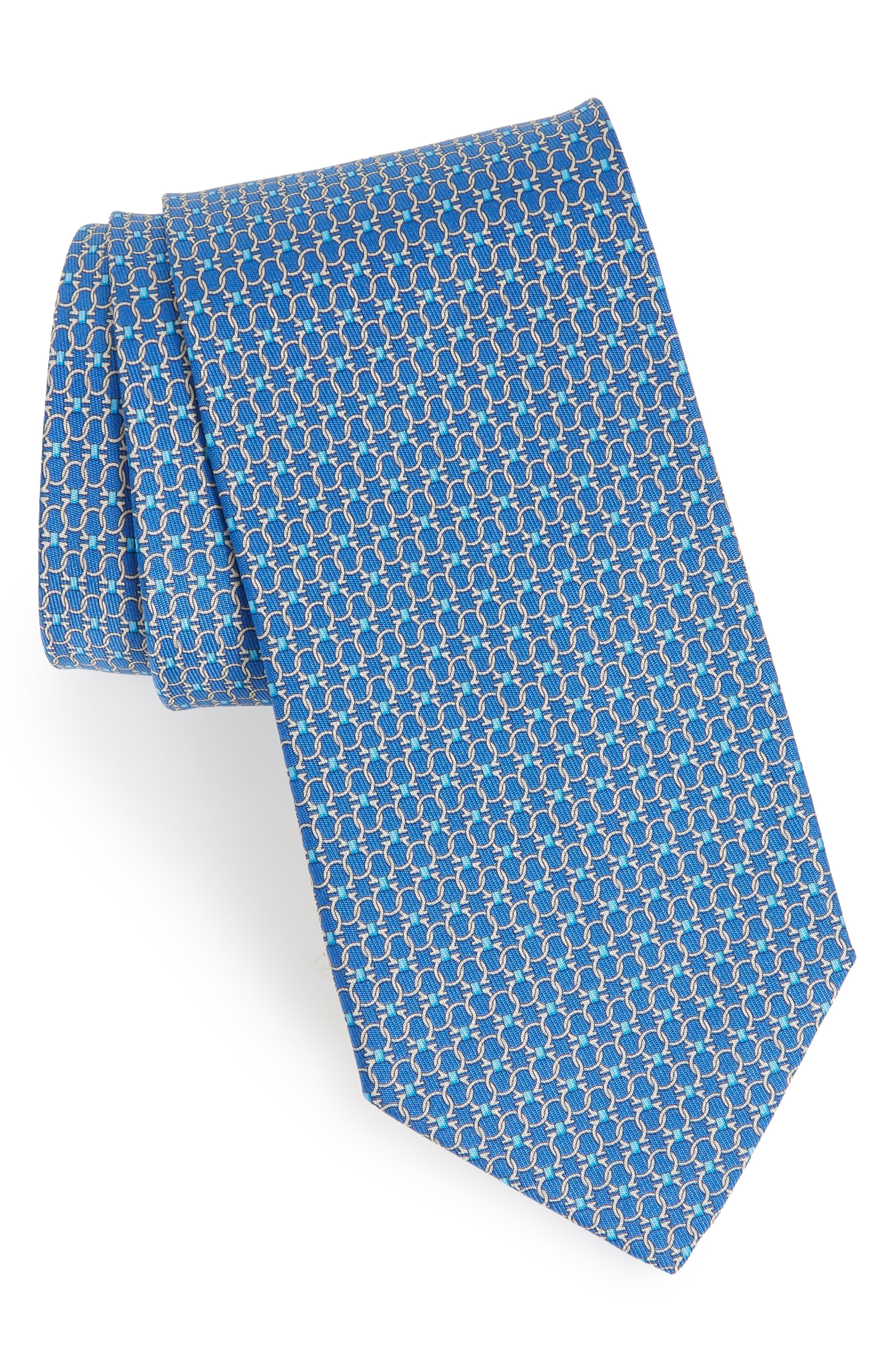 Geometric Silk Tie,                             Main thumbnail 1, color,                             494