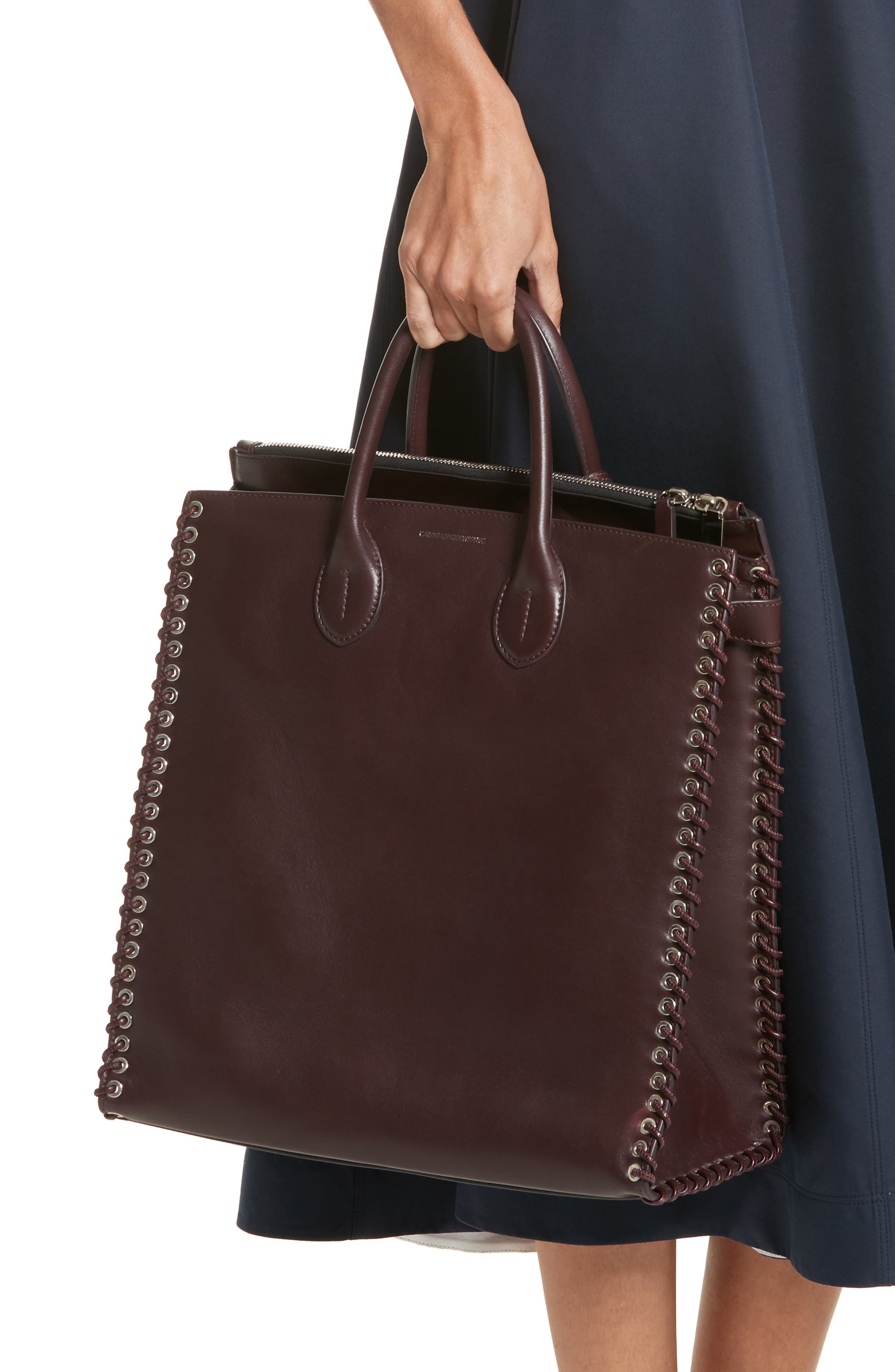 Whipstitch Calfskin Tote,                             Alternate thumbnail 2, color,                             200