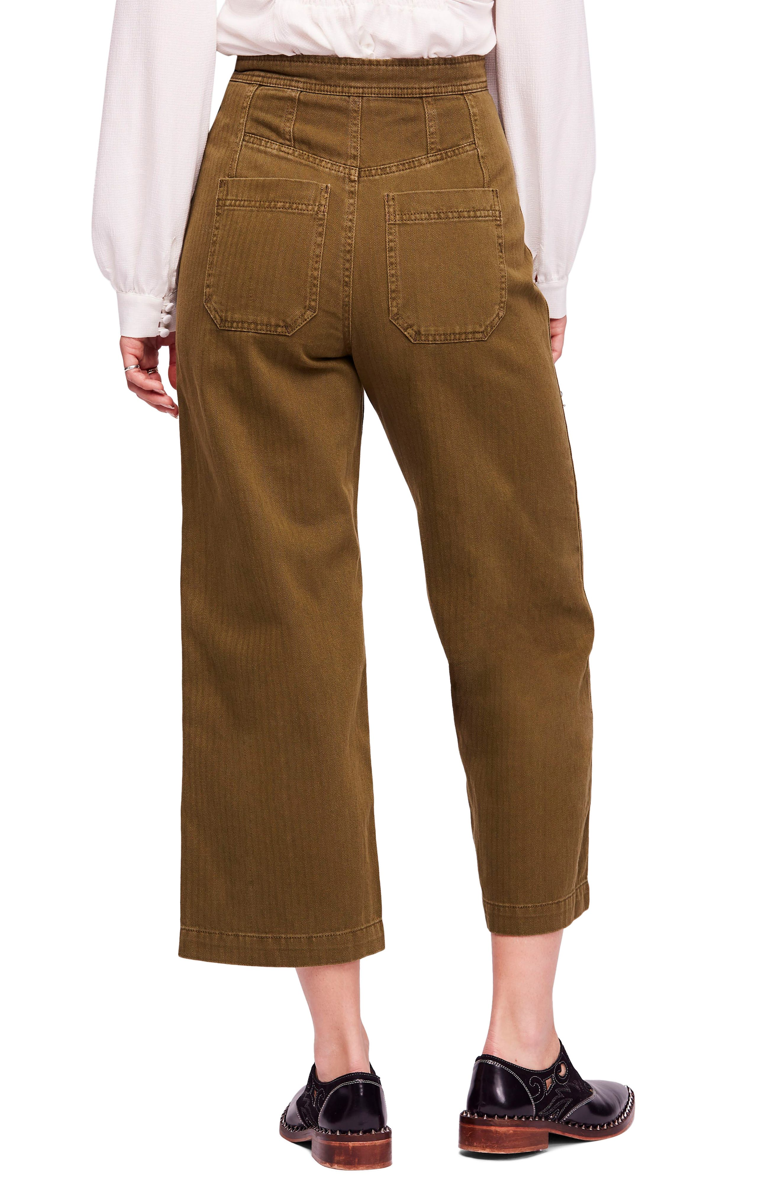 We the Free by Free People Utility Crop Pants,                             Alternate thumbnail 2, color,                             MOSS