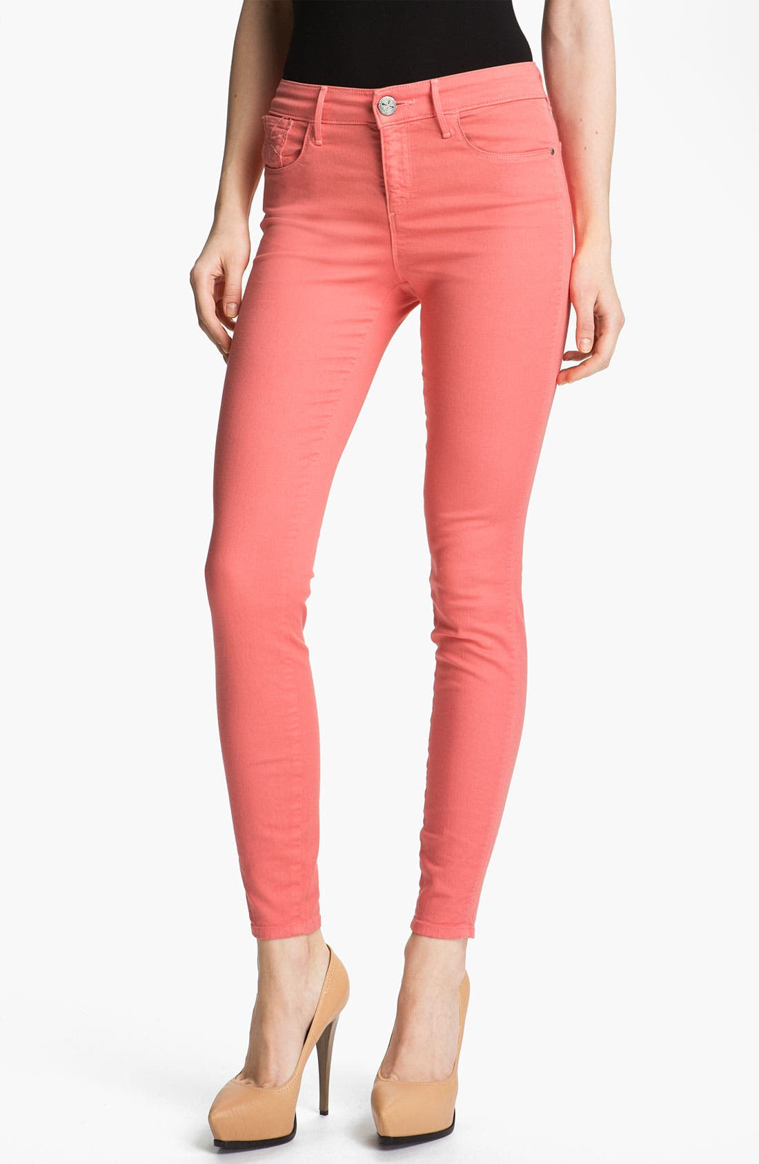 'Grace' High Rise Skinny Stretch Jeans,                             Main thumbnail 1, color,                             675