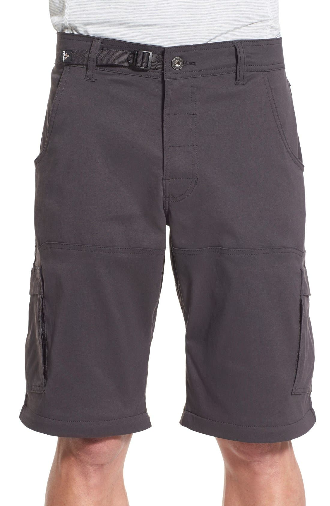 Zion Stretch Convertible Cargo Hiking Pants,                             Alternate thumbnail 6, color,                             010