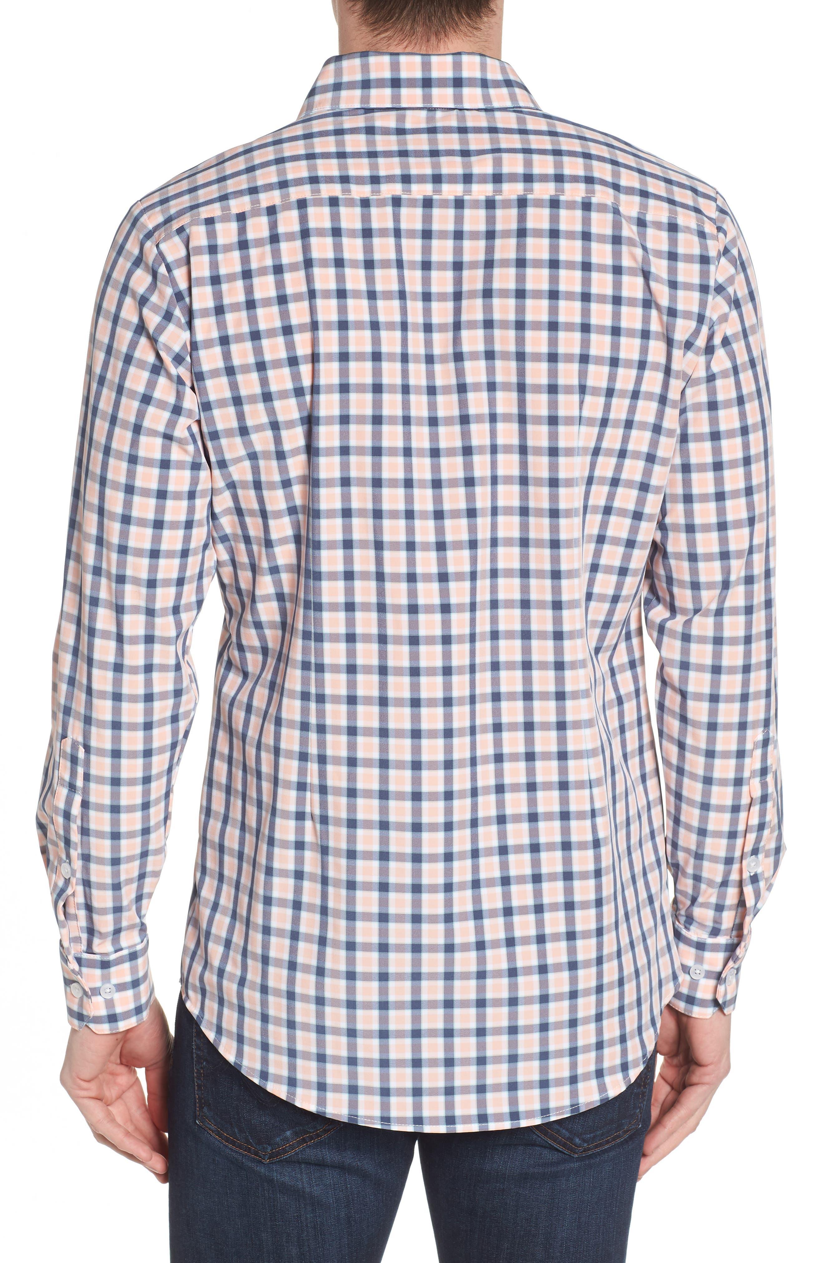Brooks Check Performance Sport Shirt,                             Alternate thumbnail 2, color,                             650