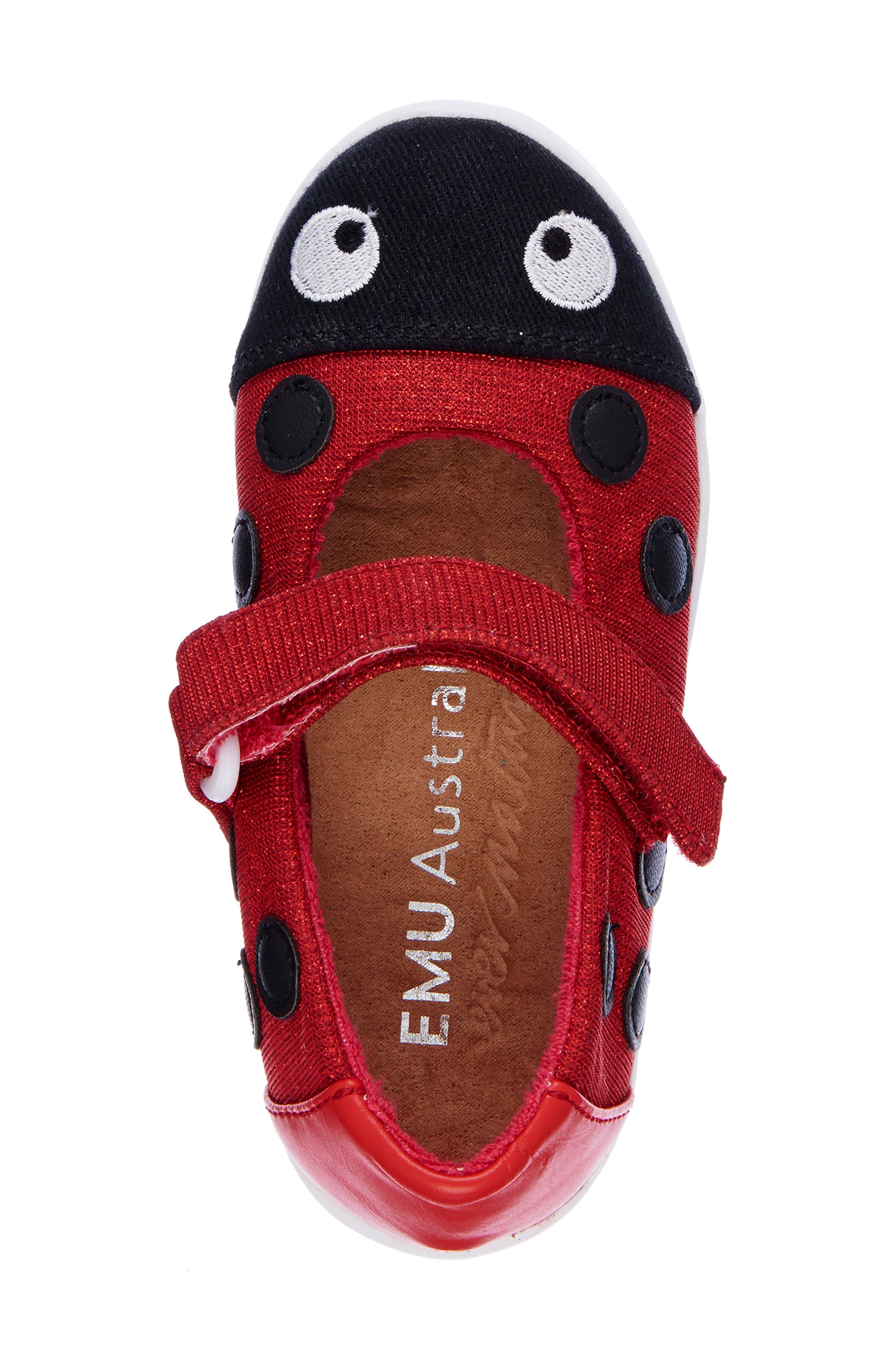 Ladybug Mary Jane,                             Alternate thumbnail 4, color,                             RED