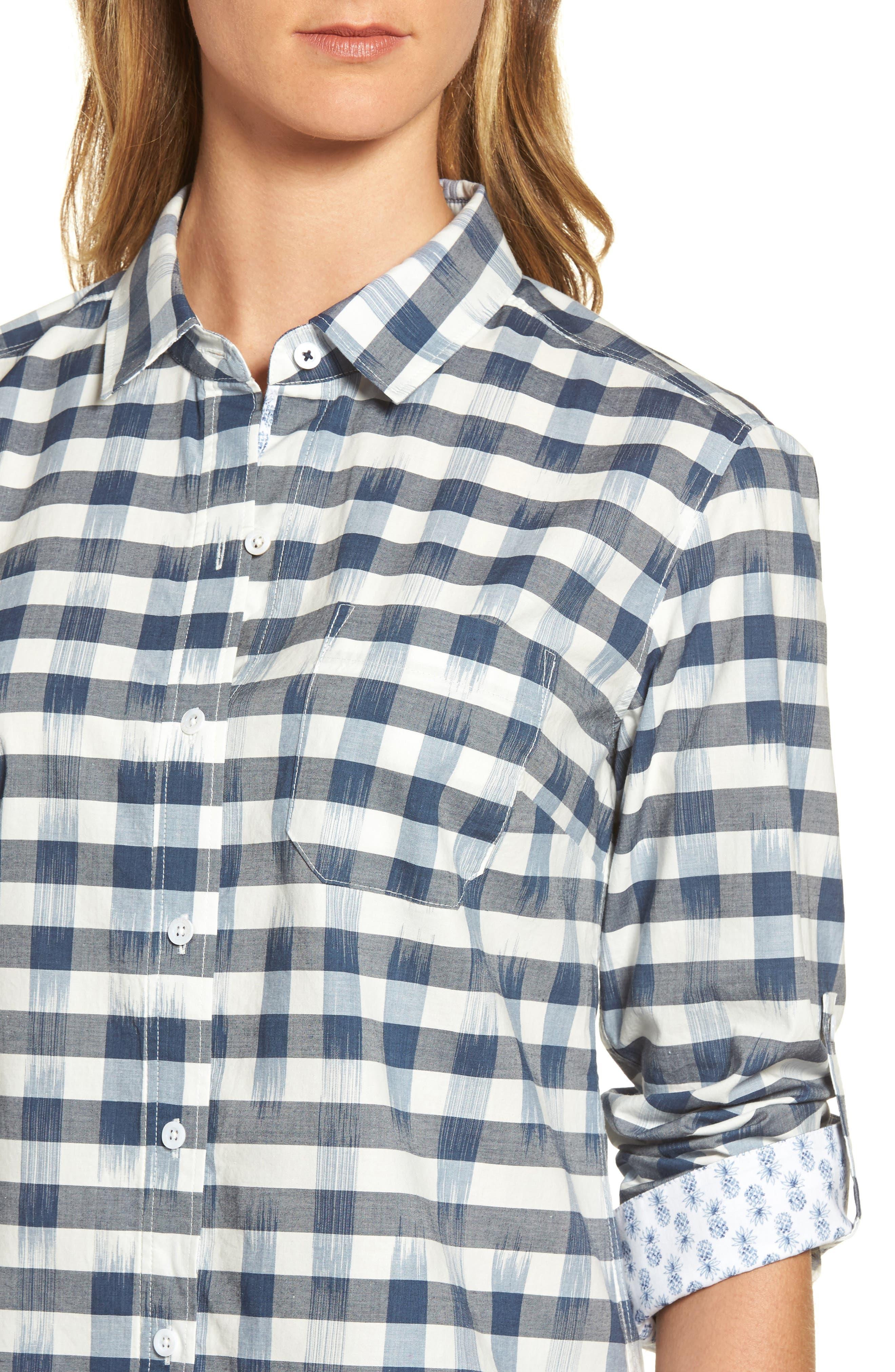 Fragmented Gingham Shirt,                             Alternate thumbnail 4, color,                             400