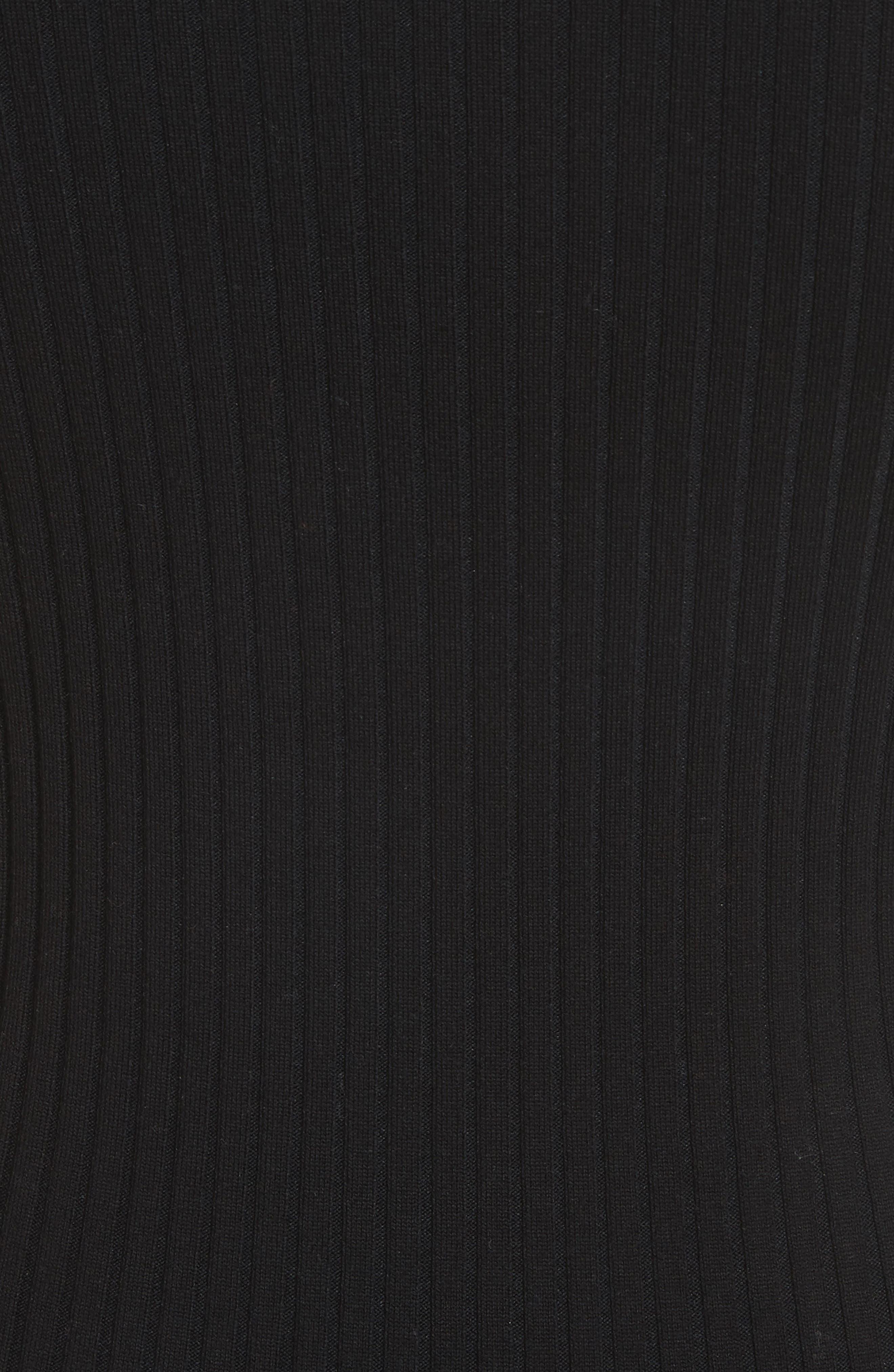 Pin Pierce Ribbed Body-Con Dress,                             Alternate thumbnail 5, color,