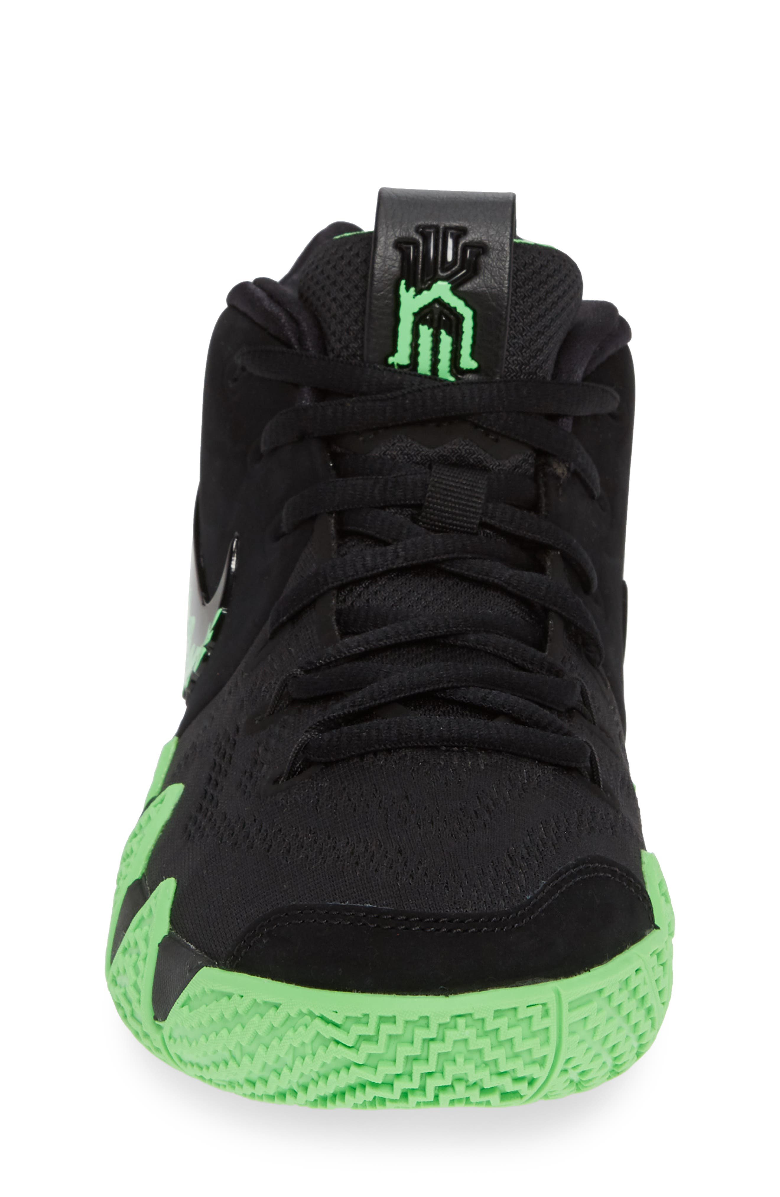 Kyrie 4 Basketball Shoe,                             Alternate thumbnail 4, color,                             BLACK/ RAGE GREEN