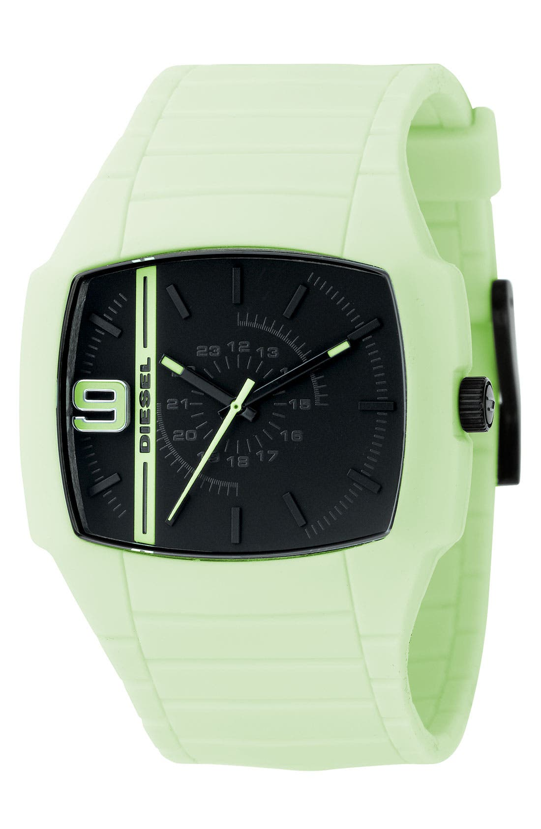 Glow-in-the-Dark Silicone Strap Watch,                             Main thumbnail 1, color,                             100