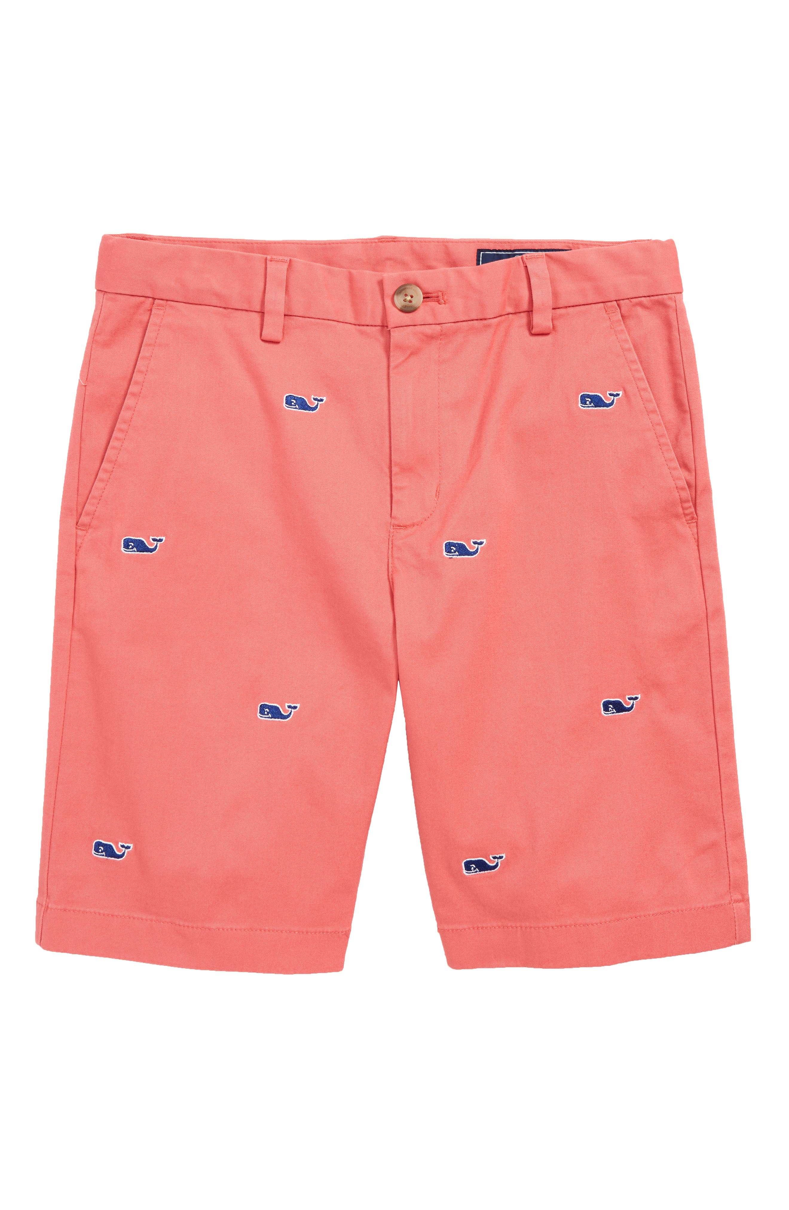 VINEYARD VINES,                             Embroidered Stretch Breaker Shorts,                             Main thumbnail 1, color,                             JETTY RED