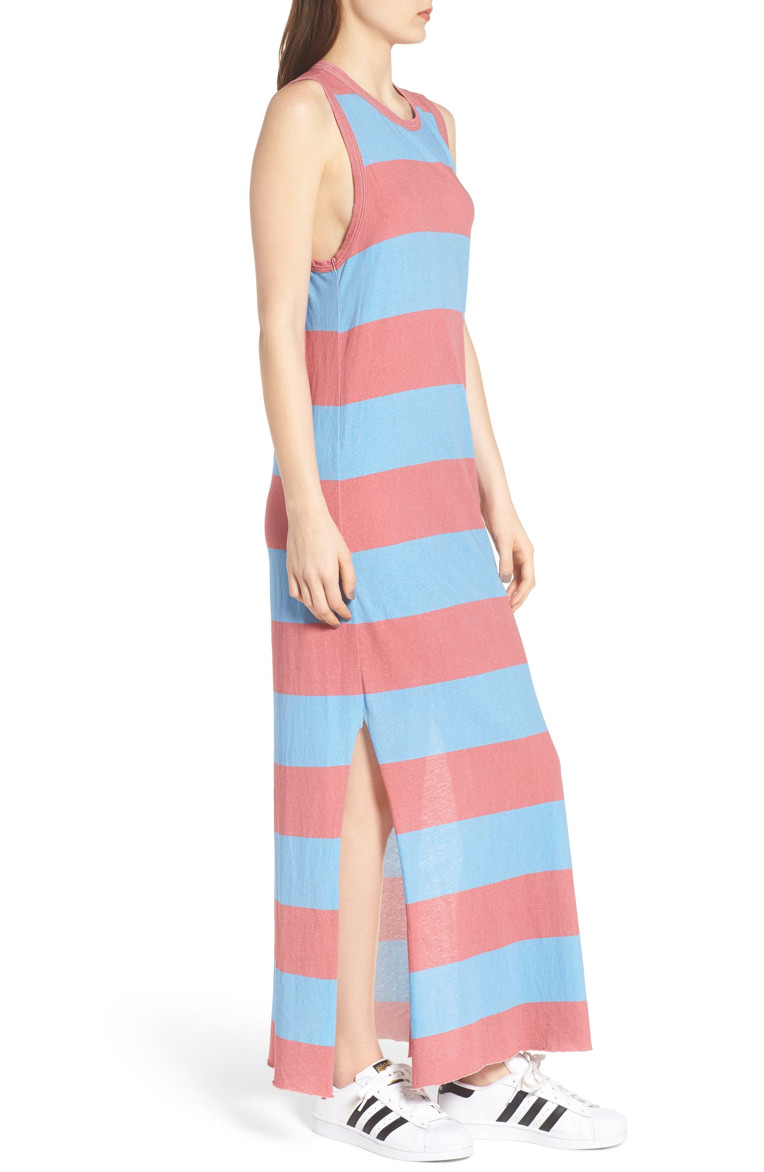 Stripe Muscle Maxi Dress,                             Alternate thumbnail 3, color,