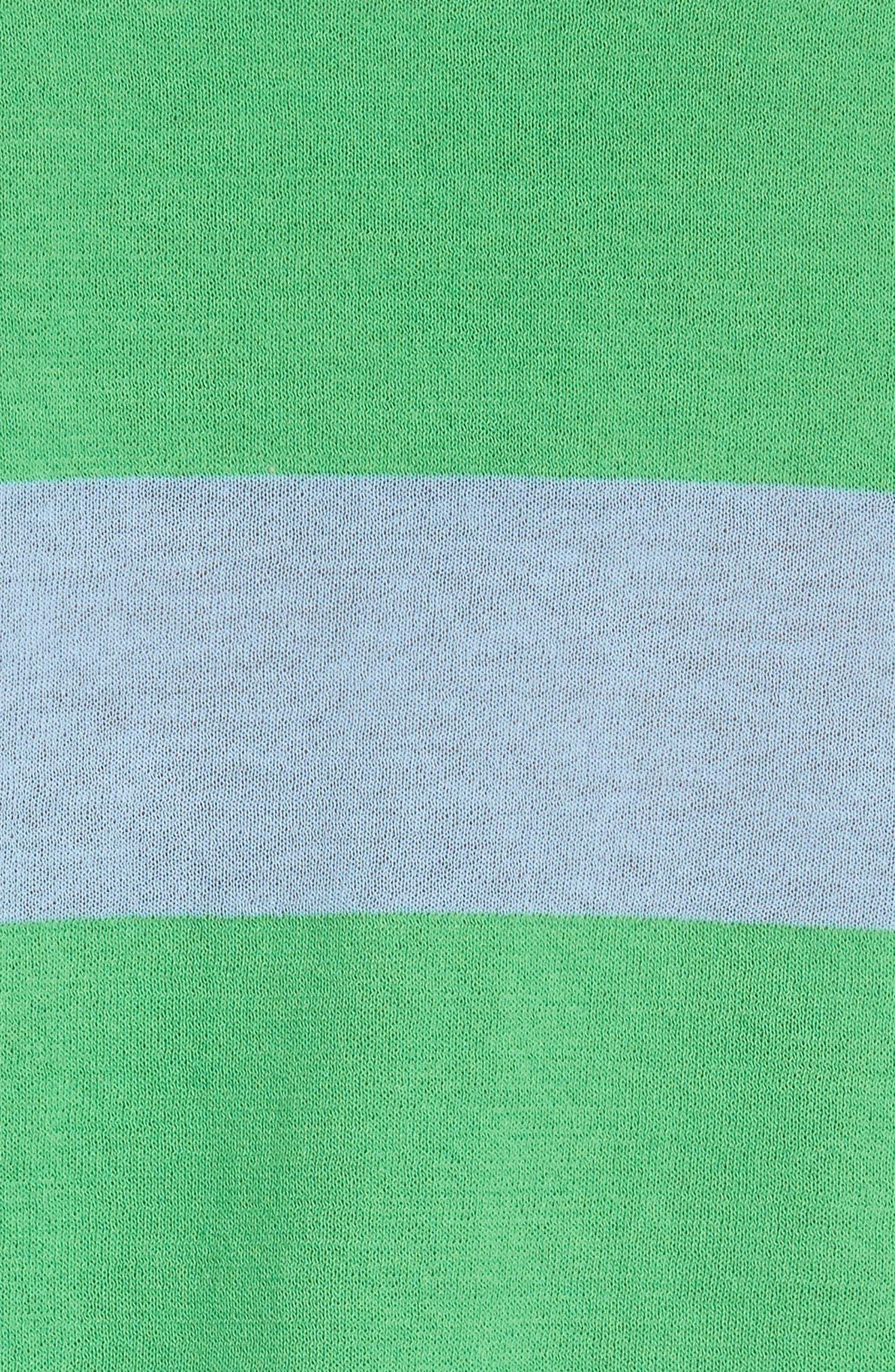 Diane von Furstenberg Colorblock Stripe Sweater,                             Alternate thumbnail 5, color,                             415