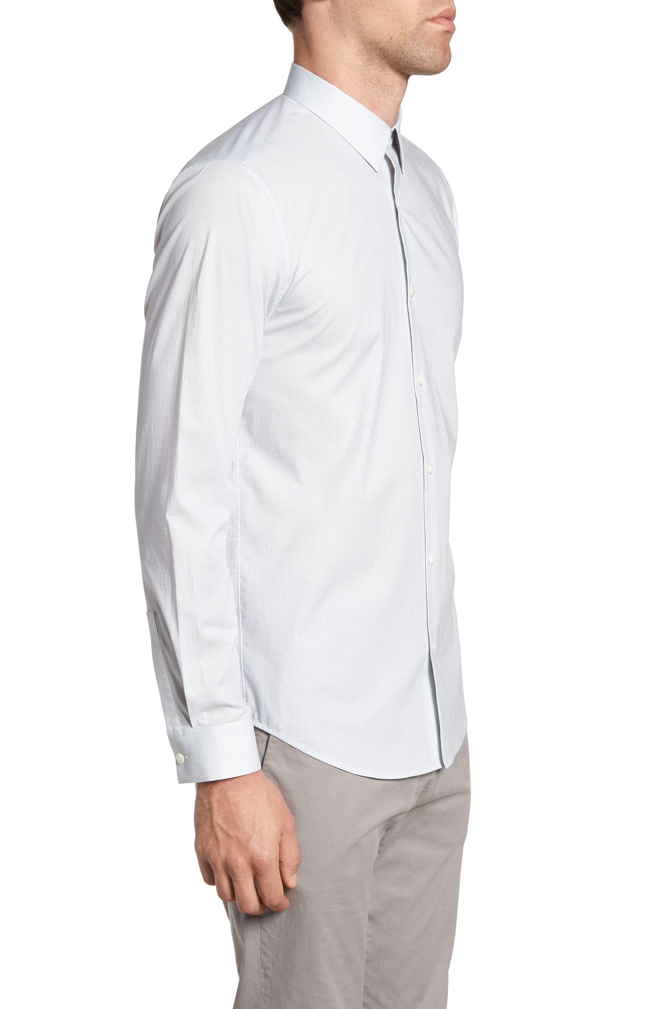 Irving Sillar Slim Fit Sport Shirt,                             Alternate thumbnail 3, color,                             097
