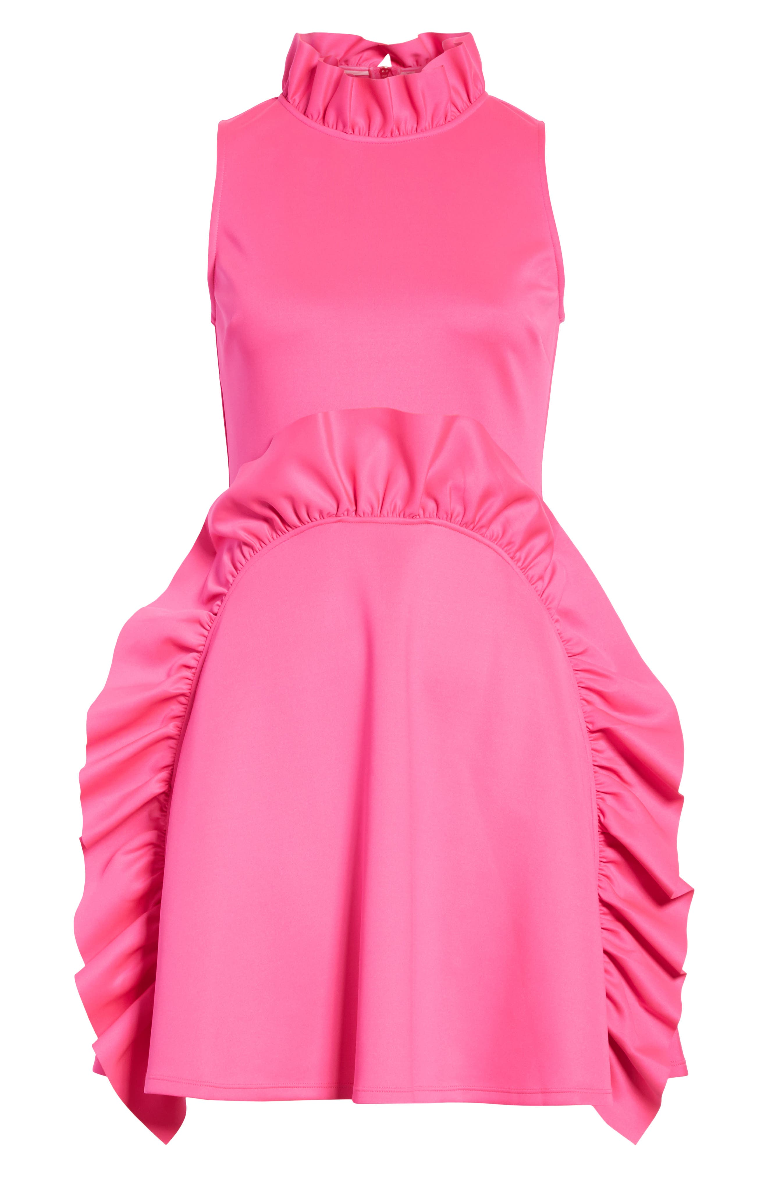 Jannett Laser Cut Ruffle Dress,                             Alternate thumbnail 6, color,                             671