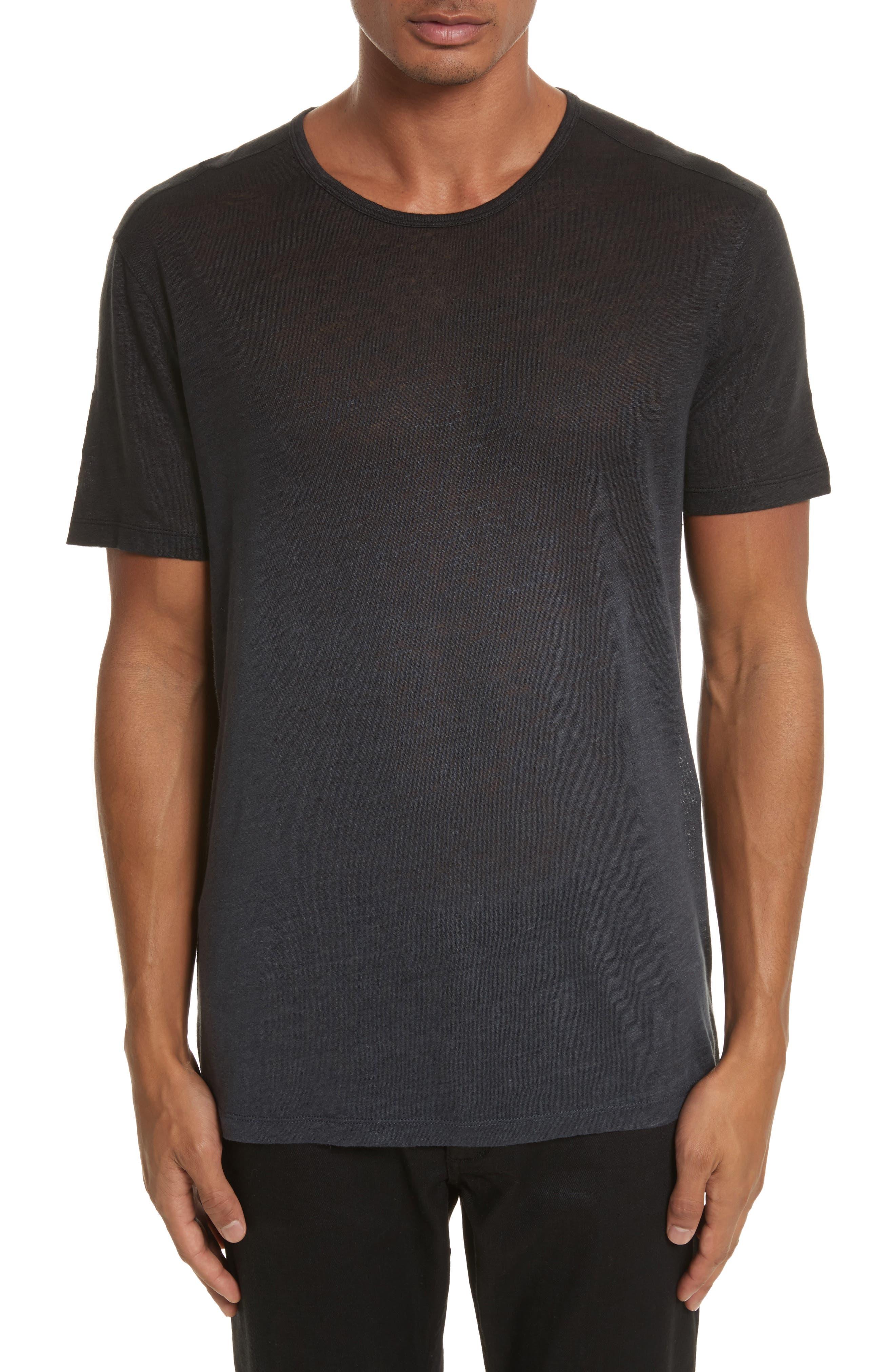 Dip Dyed Linen T-Shirt,                             Main thumbnail 1, color,                             001