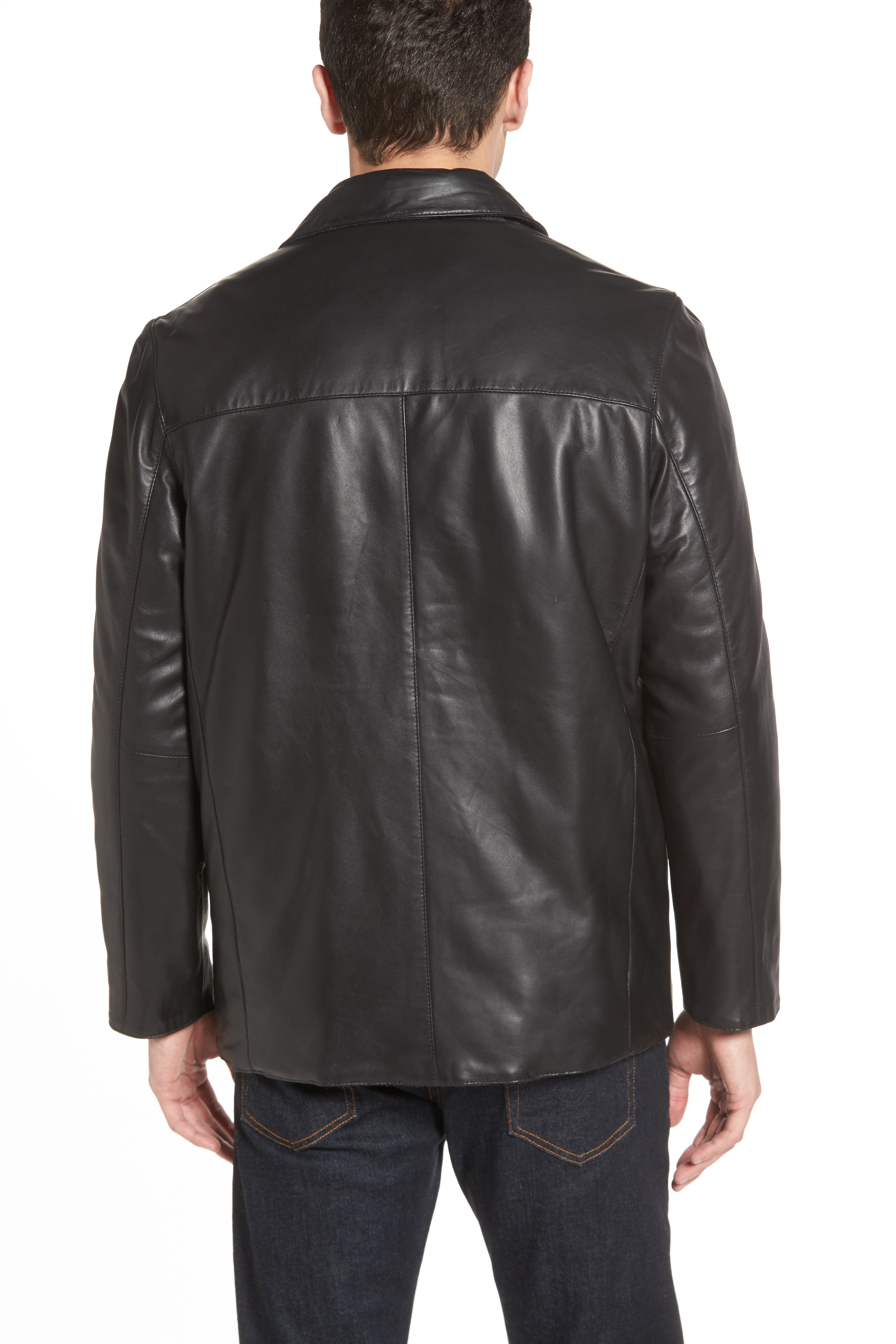 Reversible Lambskin Leather & Quilted Wool Jacket,                             Alternate thumbnail 5, color,