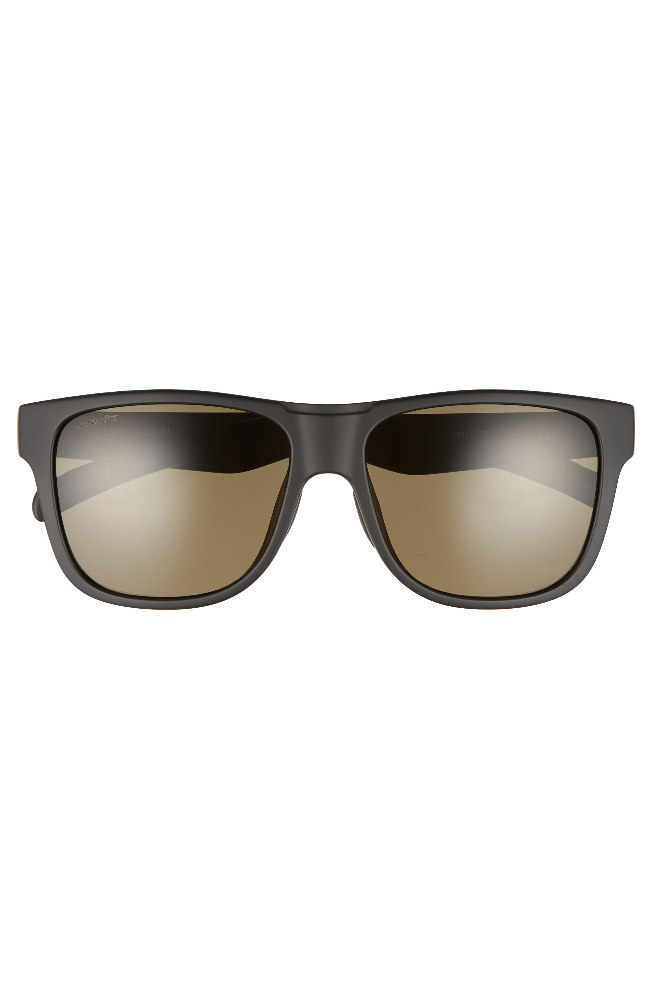 Lowdown XL 58mm Polarized Sunglasses,                             Alternate thumbnail 2, color,                             001