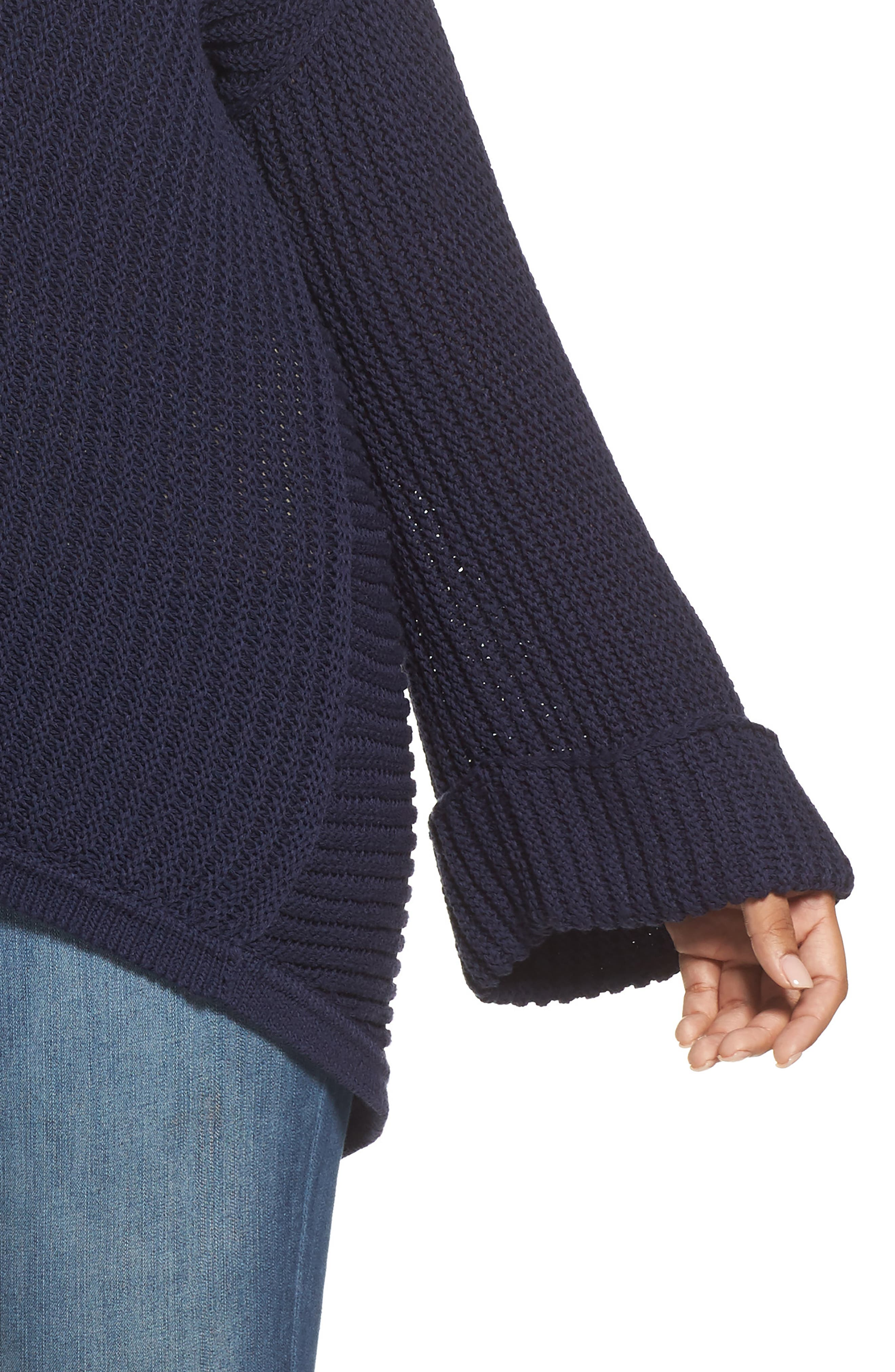 Cuffed Bell Sleeve Sweater,                             Alternate thumbnail 11, color,