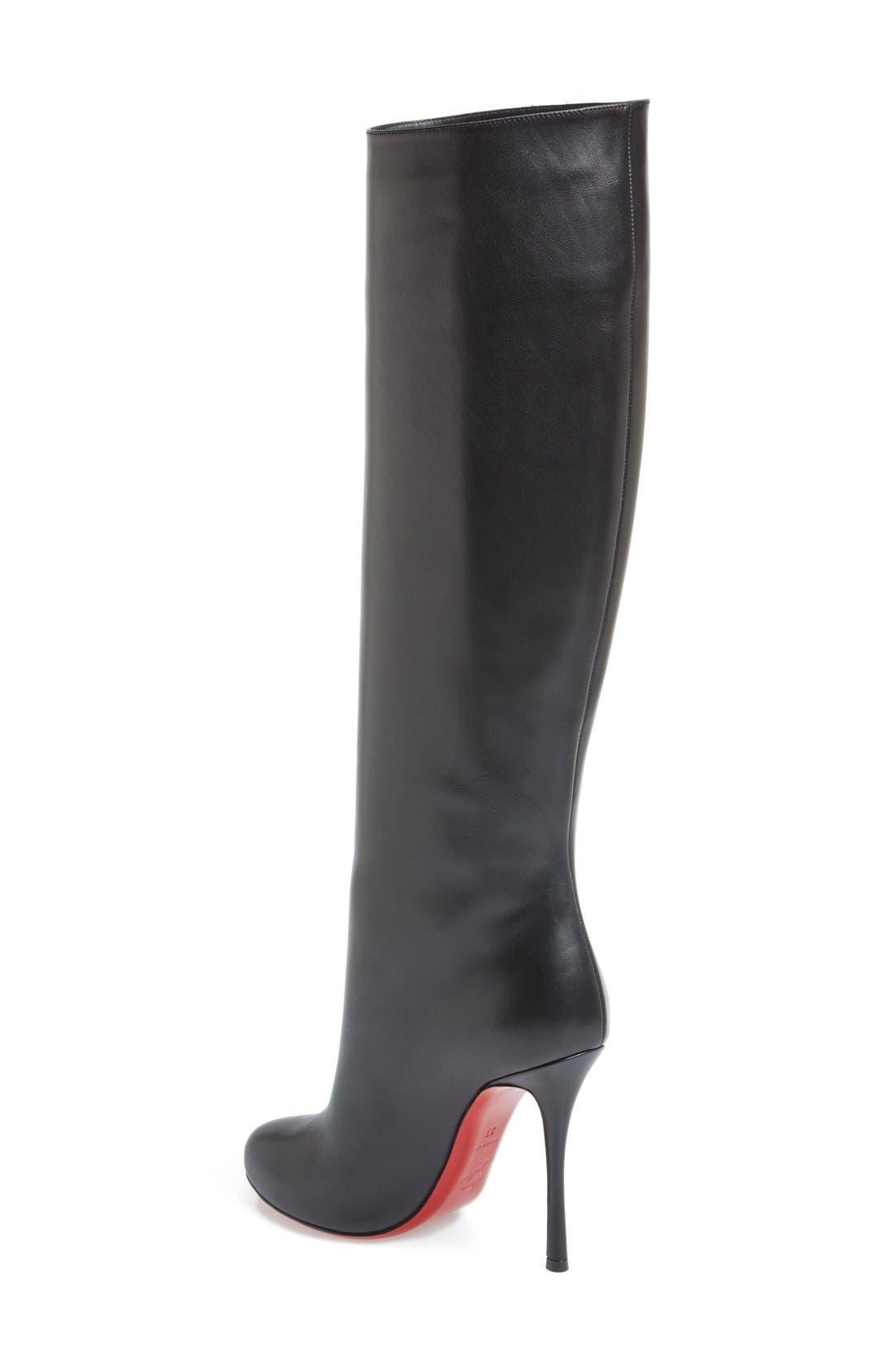 'Vitish' Knee High Boot,                             Alternate thumbnail 4, color,                             001