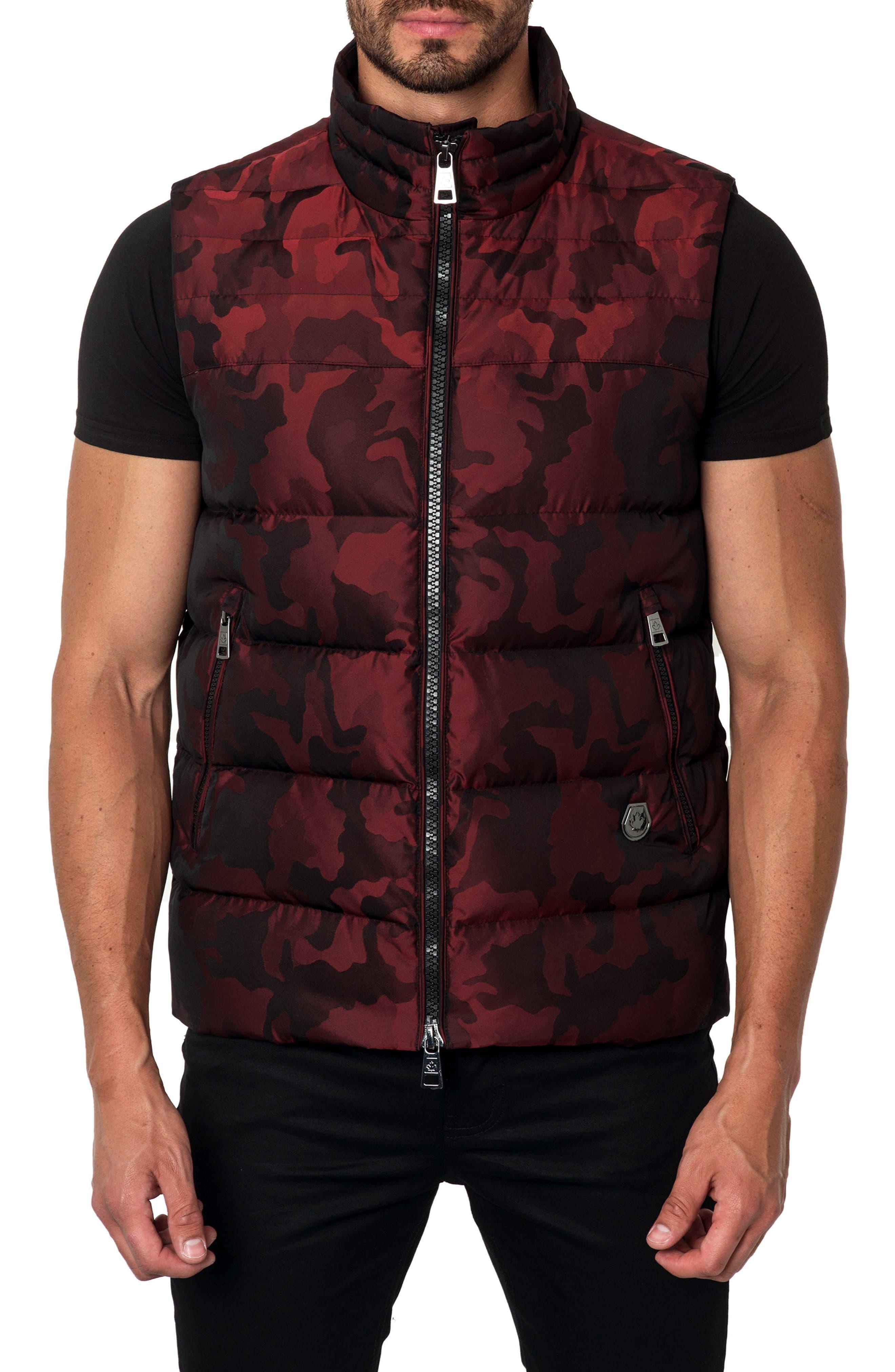 Camo Down Puffer Vest,                             Main thumbnail 3, color,