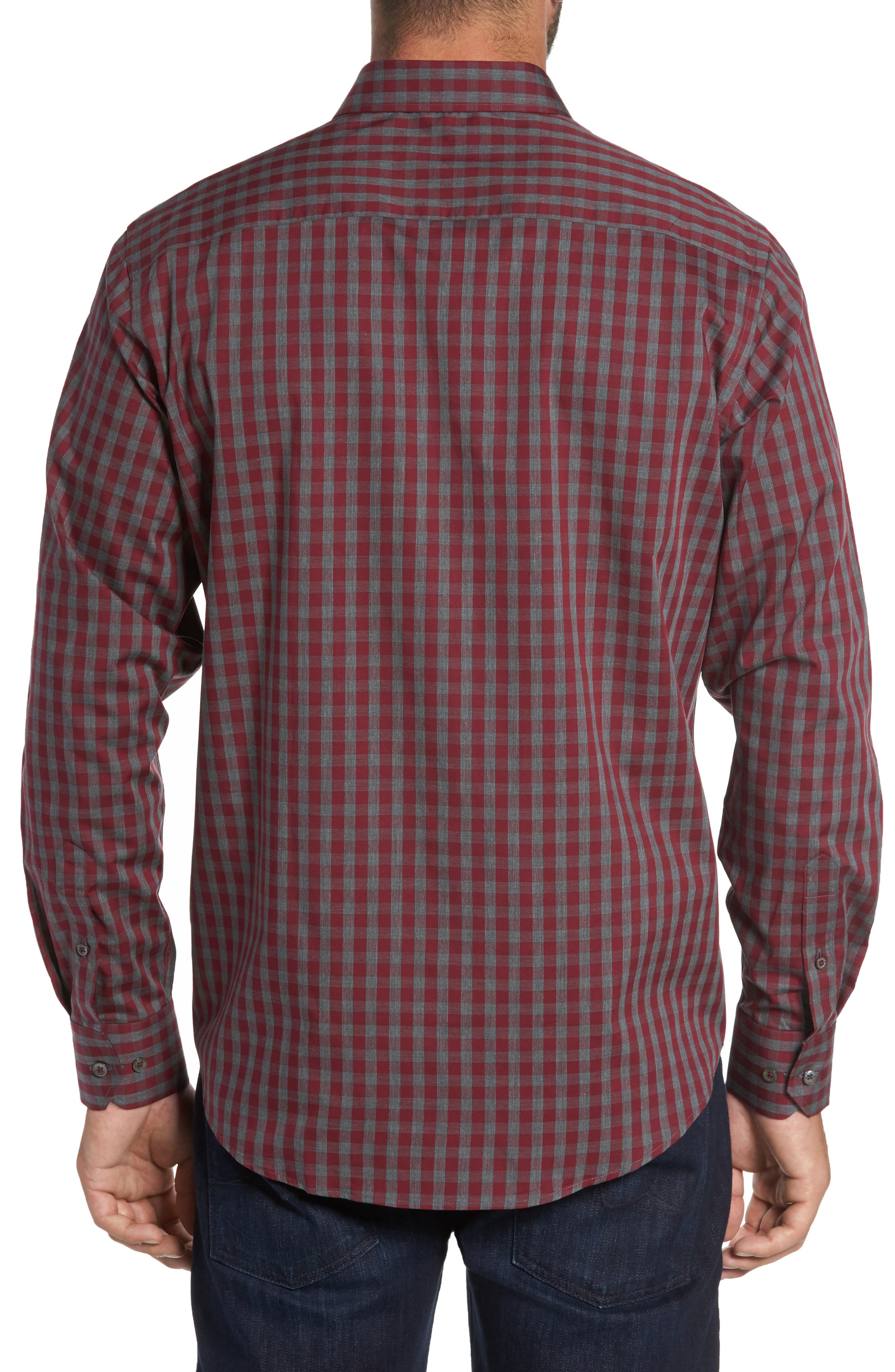 Classic Fit Check Sport Shirt,                             Alternate thumbnail 2, color,                             612