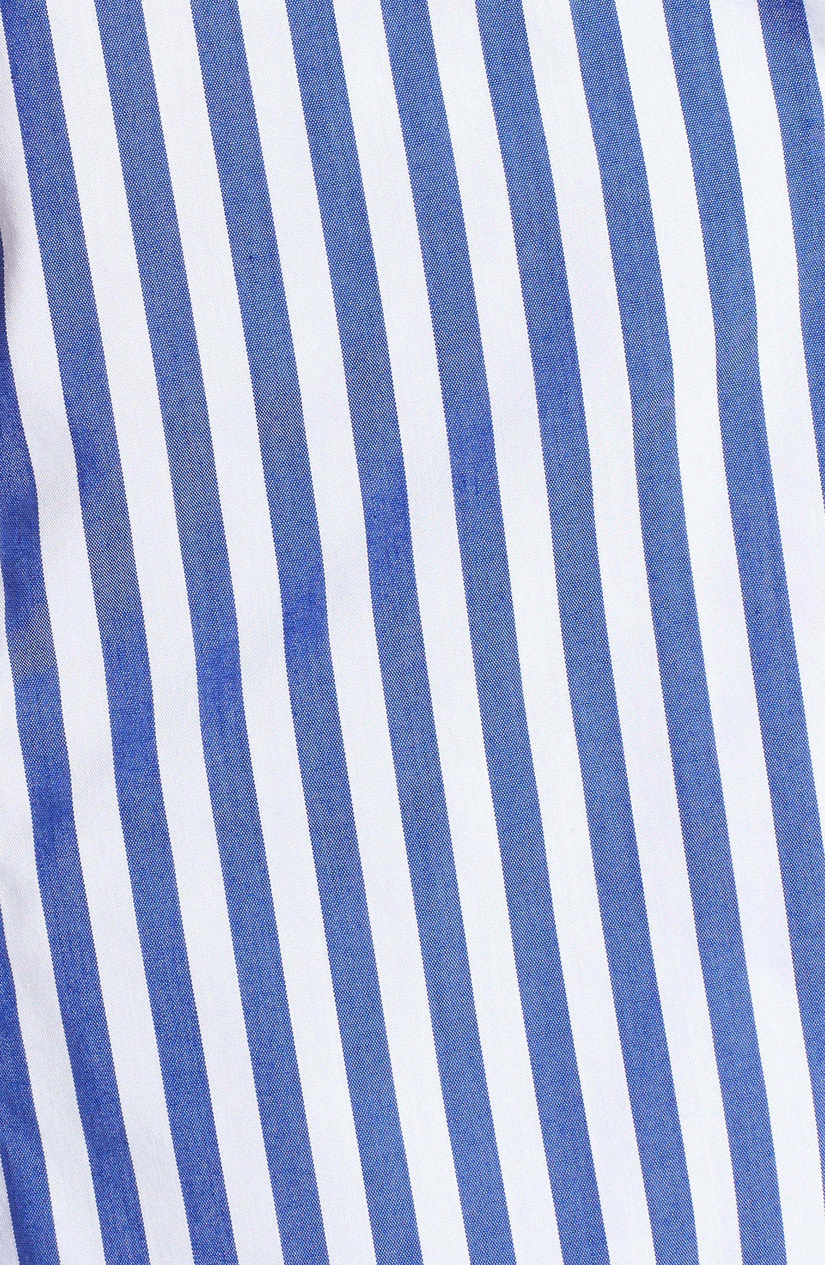 Asymmetrical Stripe Blouse,                             Alternate thumbnail 6, color,                             495