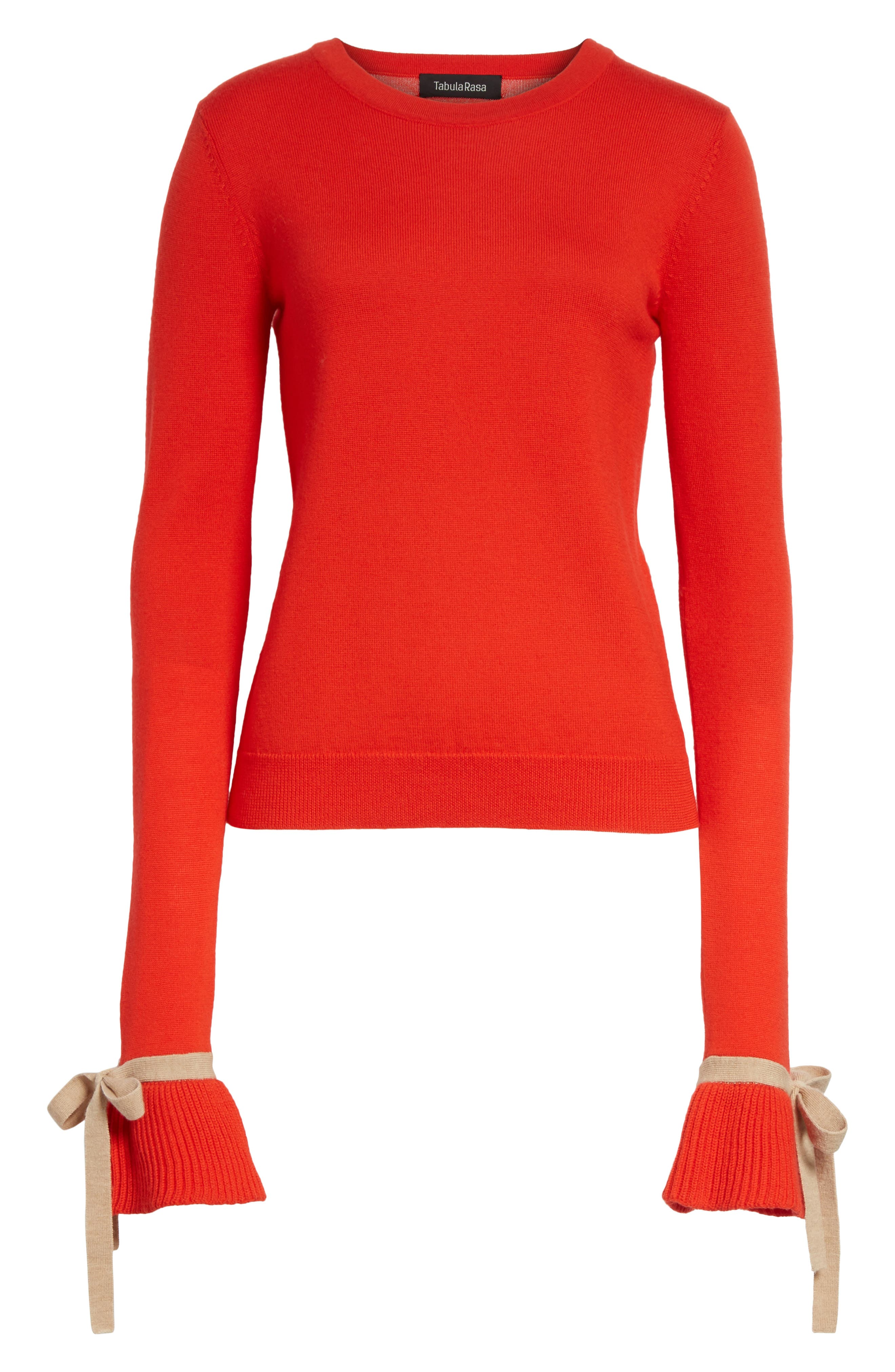 Saeta Tie Cuff Sweater,                             Alternate thumbnail 6, color,