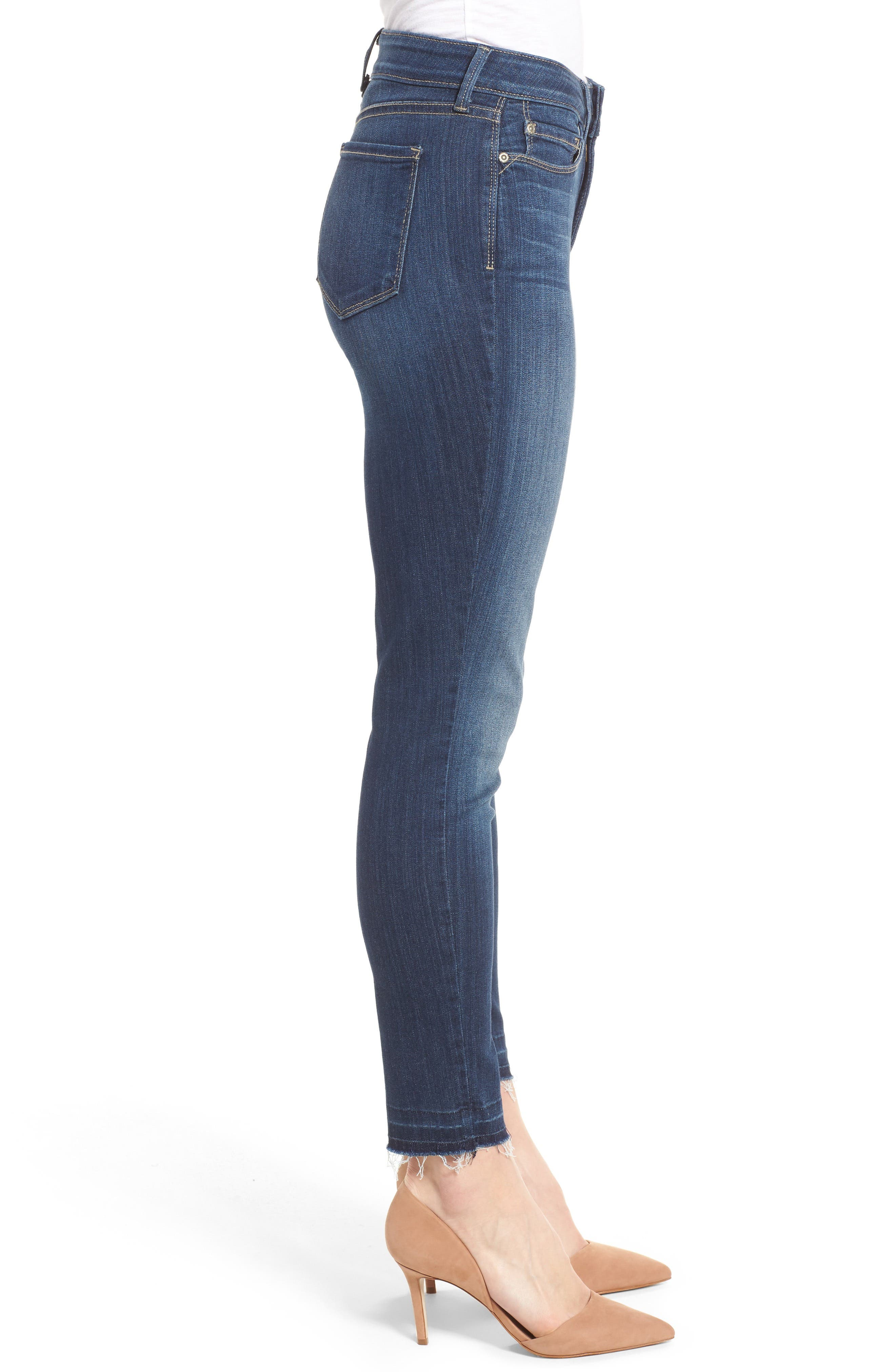 Ami Release Hem Stretch Skinny Jeans,                             Alternate thumbnail 3, color,                             428