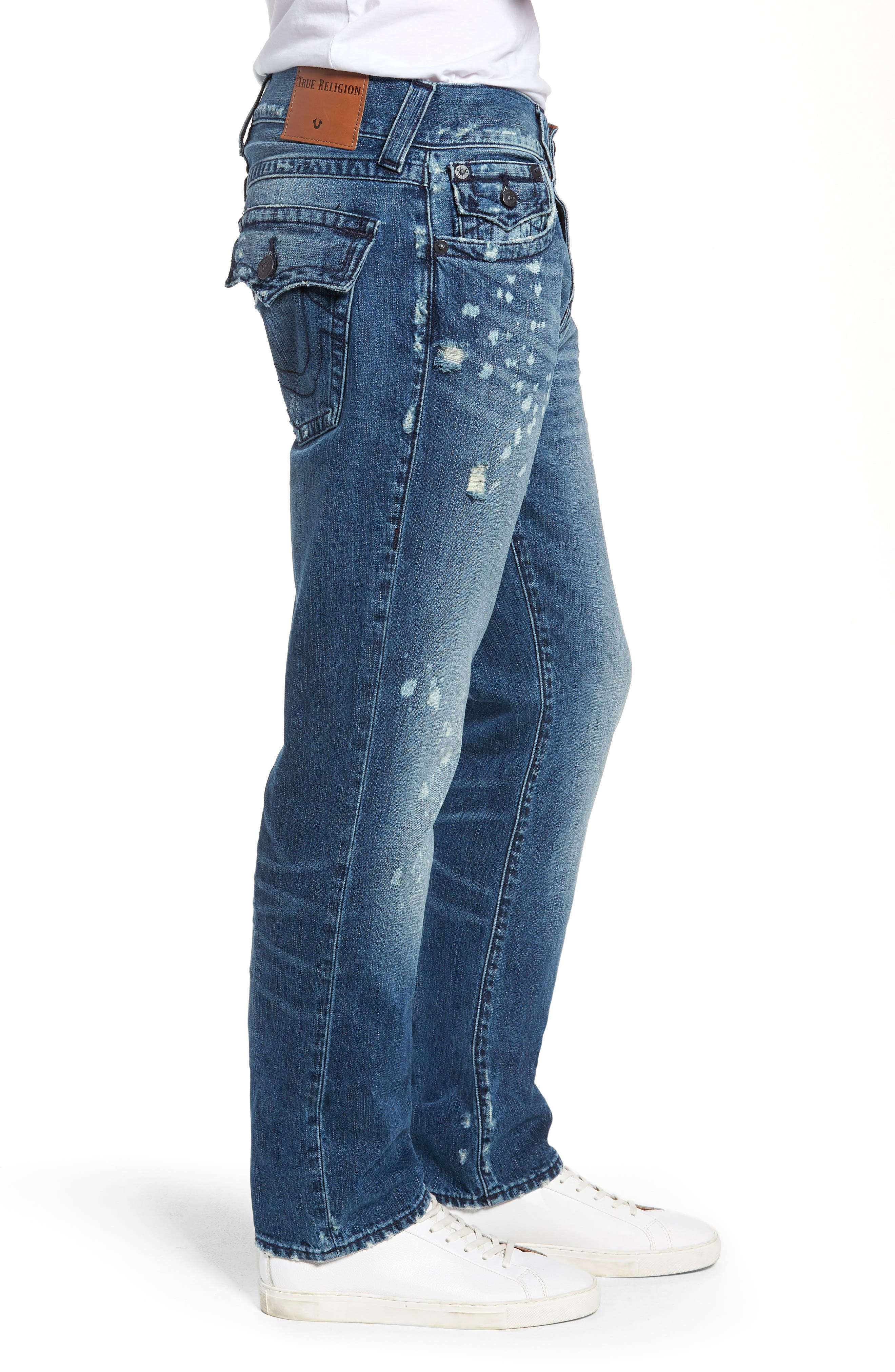 Geno Straight Fit Jeans,                             Alternate thumbnail 3, color,                             WORN PASTURE