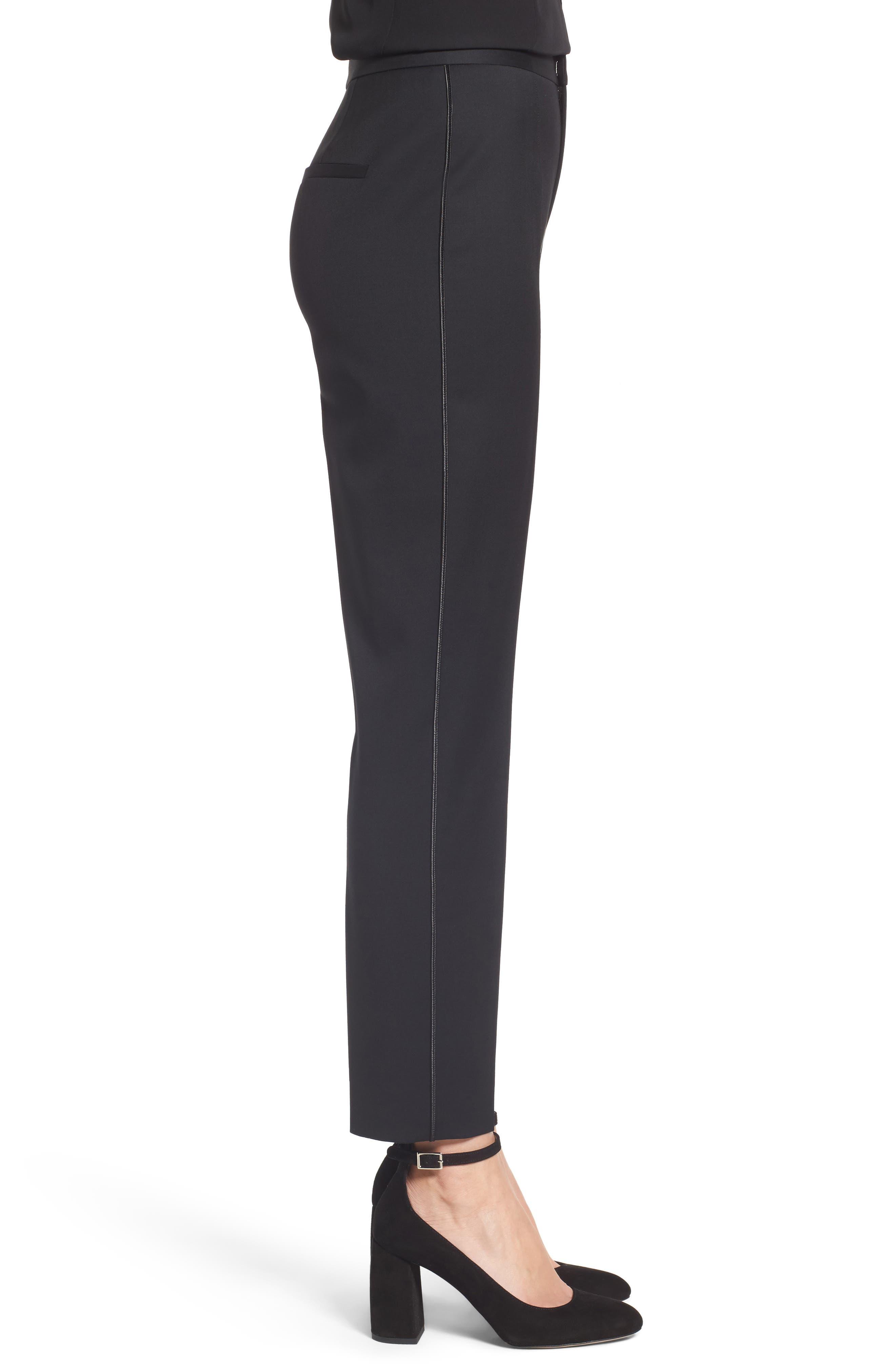 Tuxedo Detail Suit Trousers,                             Alternate thumbnail 3, color,                             001