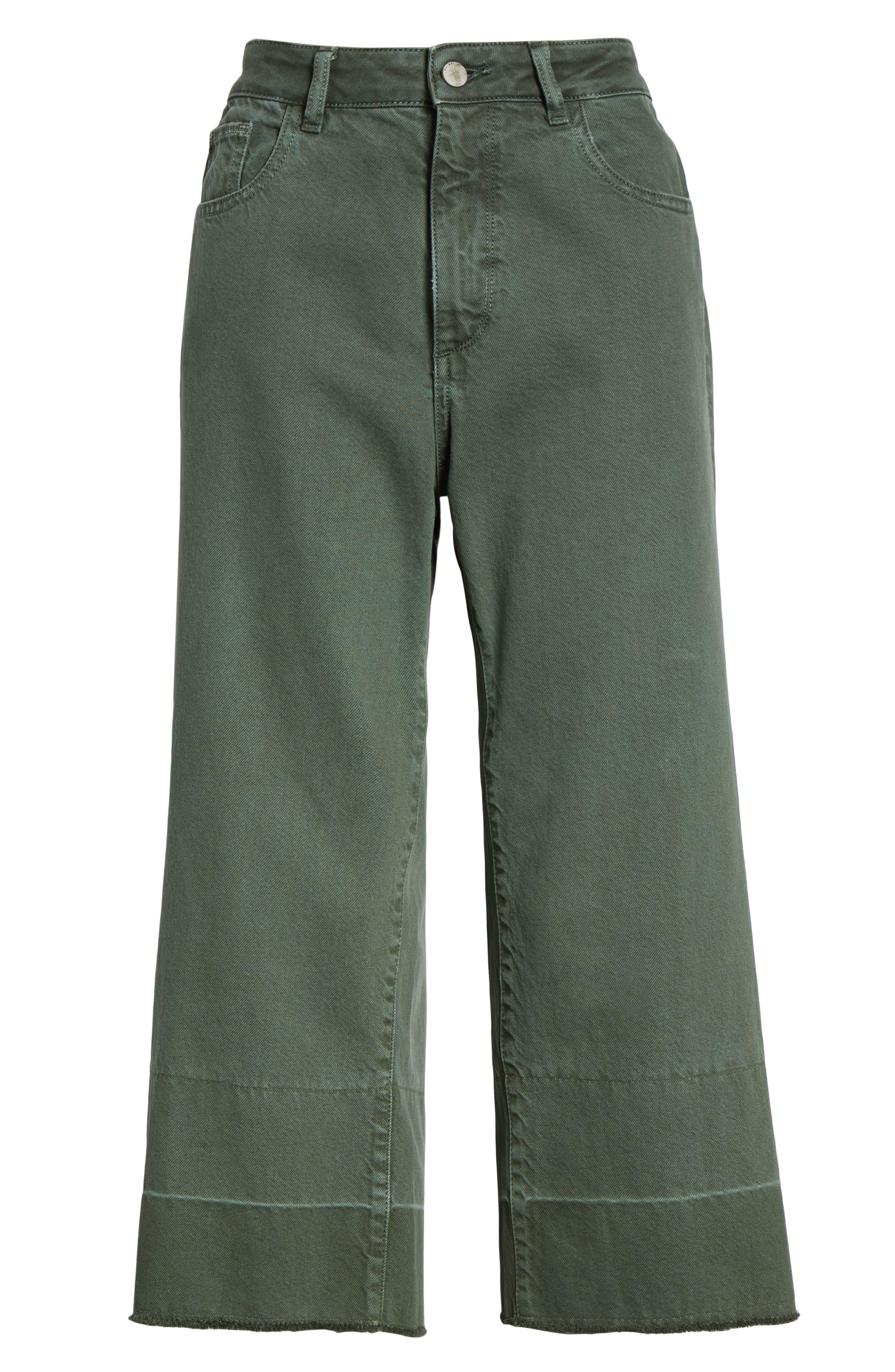 DL1961,                             Hepburn High Waist Crop Wide Leg Jeans,                             Alternate thumbnail 7, color,                             AMALFI