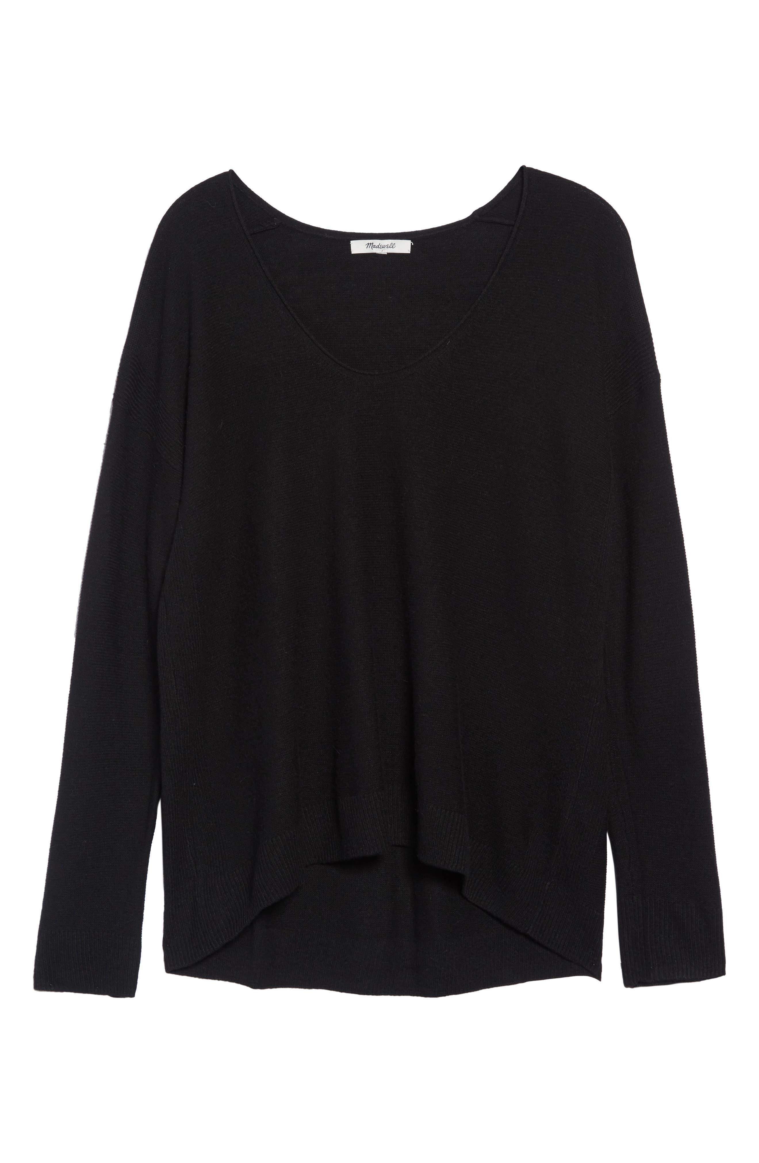 MADEWELL,                             Kimball Sweater,                             Main thumbnail 1, color,                             TRUE BLACK
