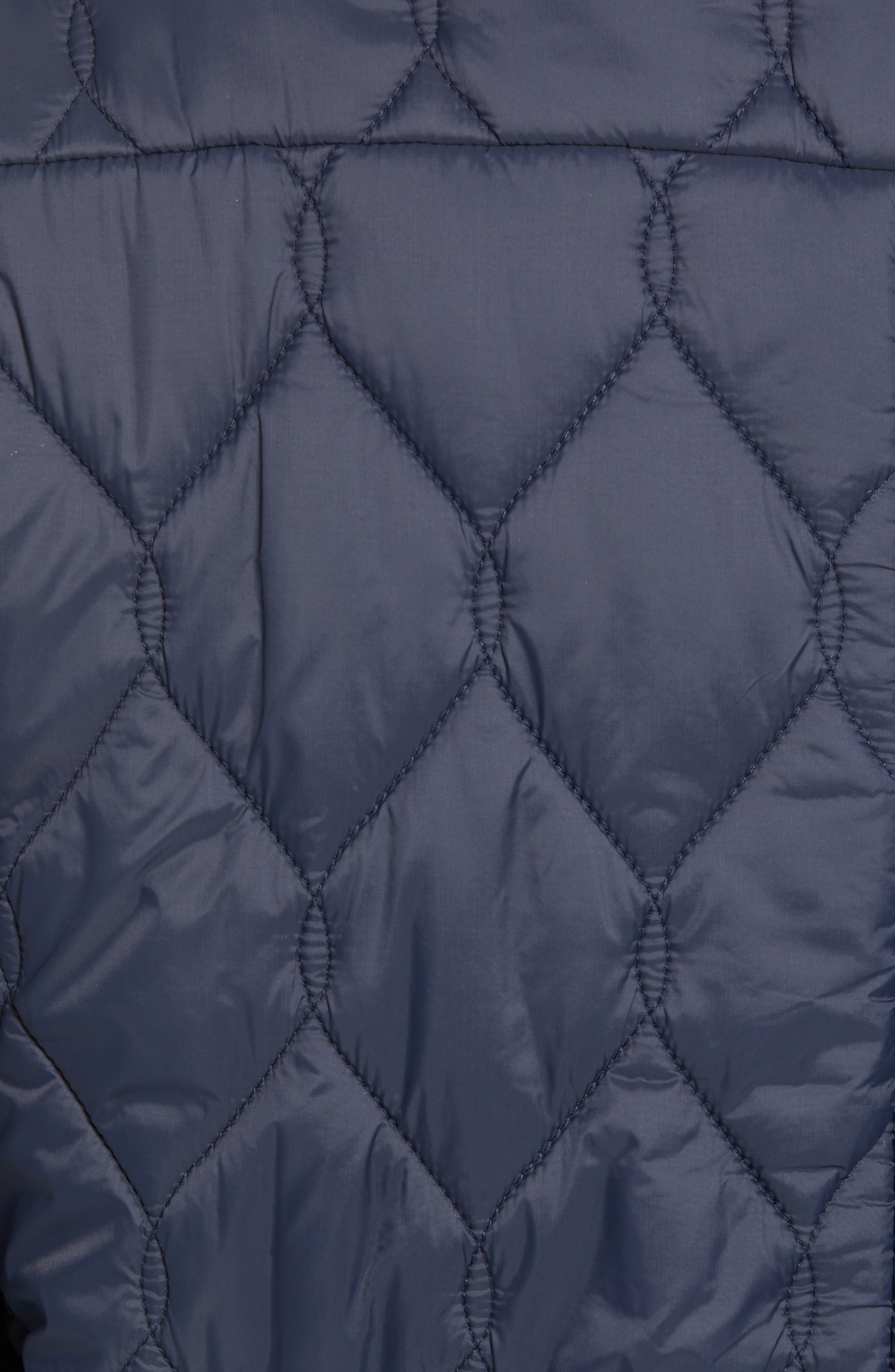 Quilted Jacket,                             Alternate thumbnail 6, color,                             UTILITY BLUE MIDNIGHT MOSS