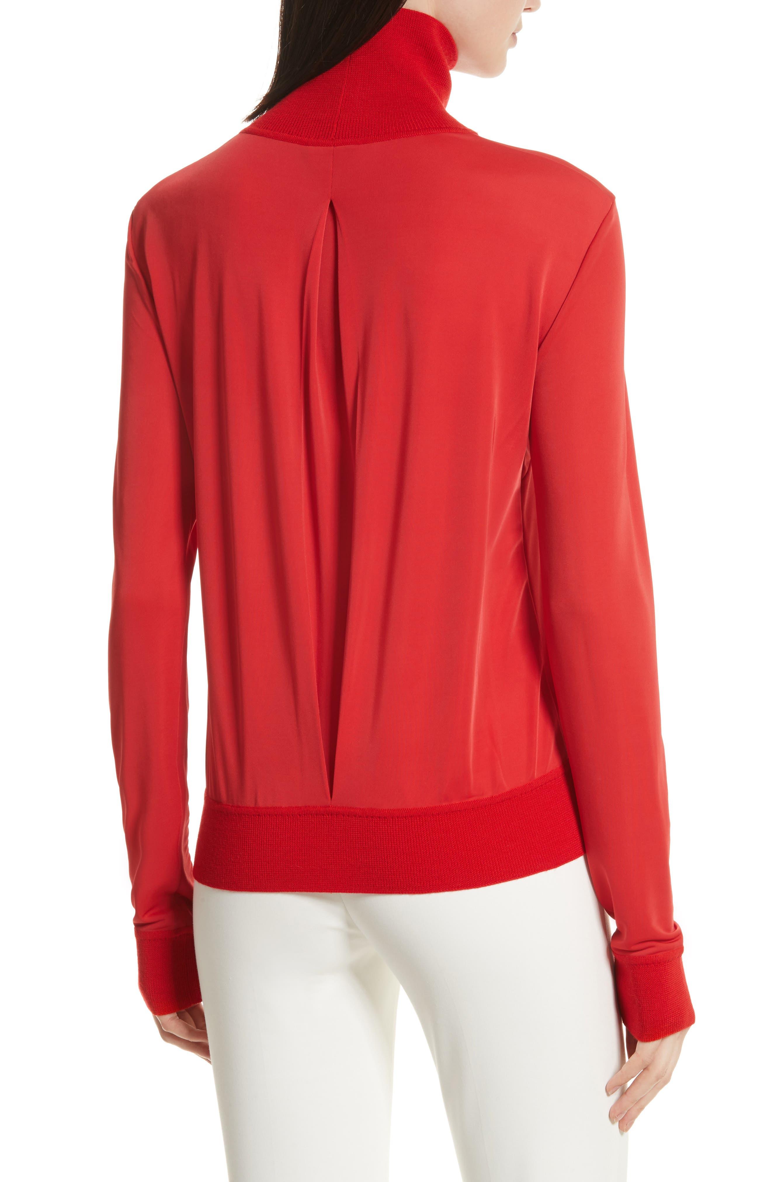 Merino Trim Turtleneck Sweater,                             Alternate thumbnail 4, color,
