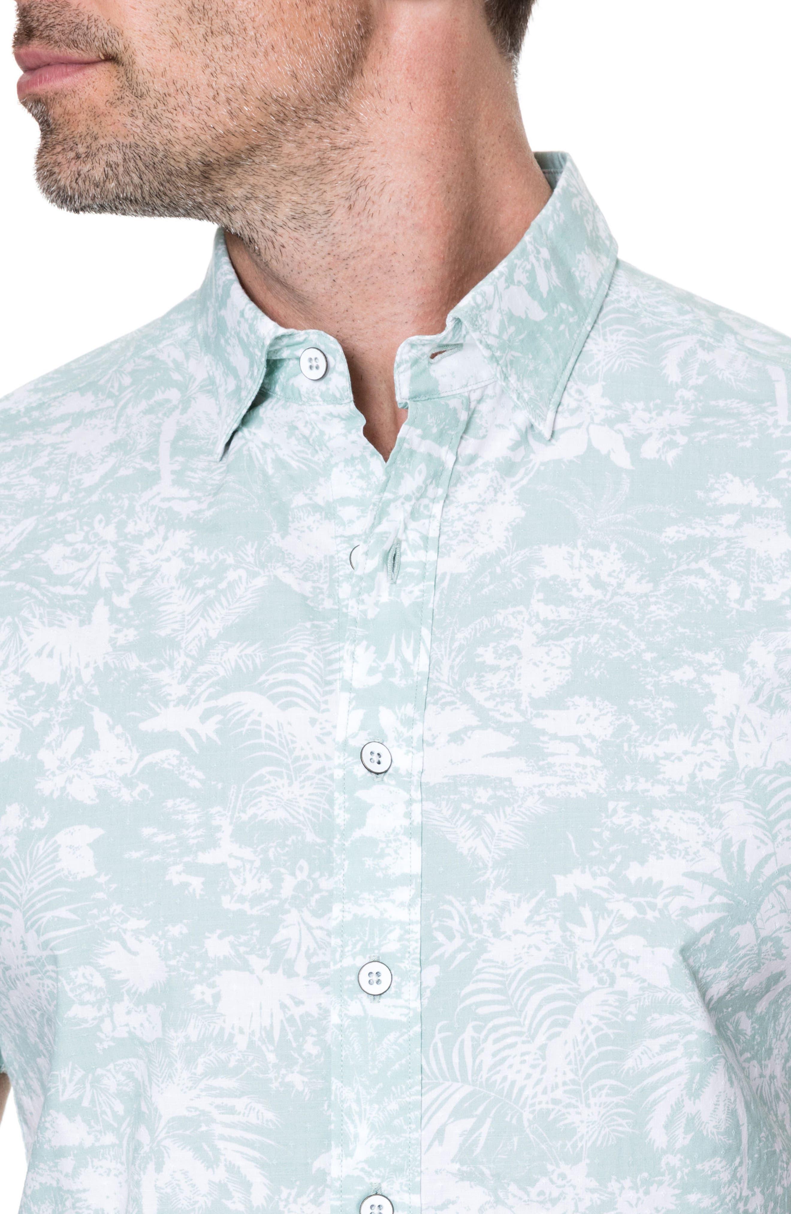 Redcastle Regular Fit Sport Shirt,                             Alternate thumbnail 3, color,                             POWDER BLUE