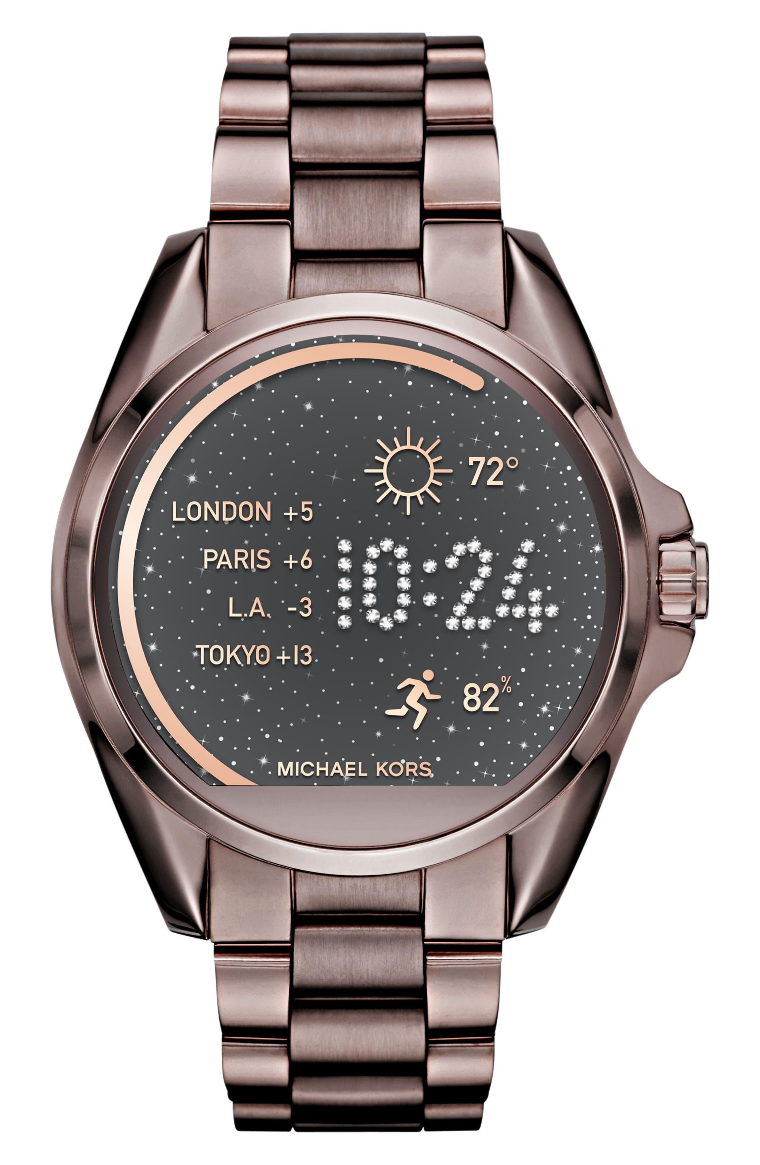MICHAEL Michael Kors Bradshaw Access Bracelet Smart Watch, 45mm,                             Main thumbnail 6, color,