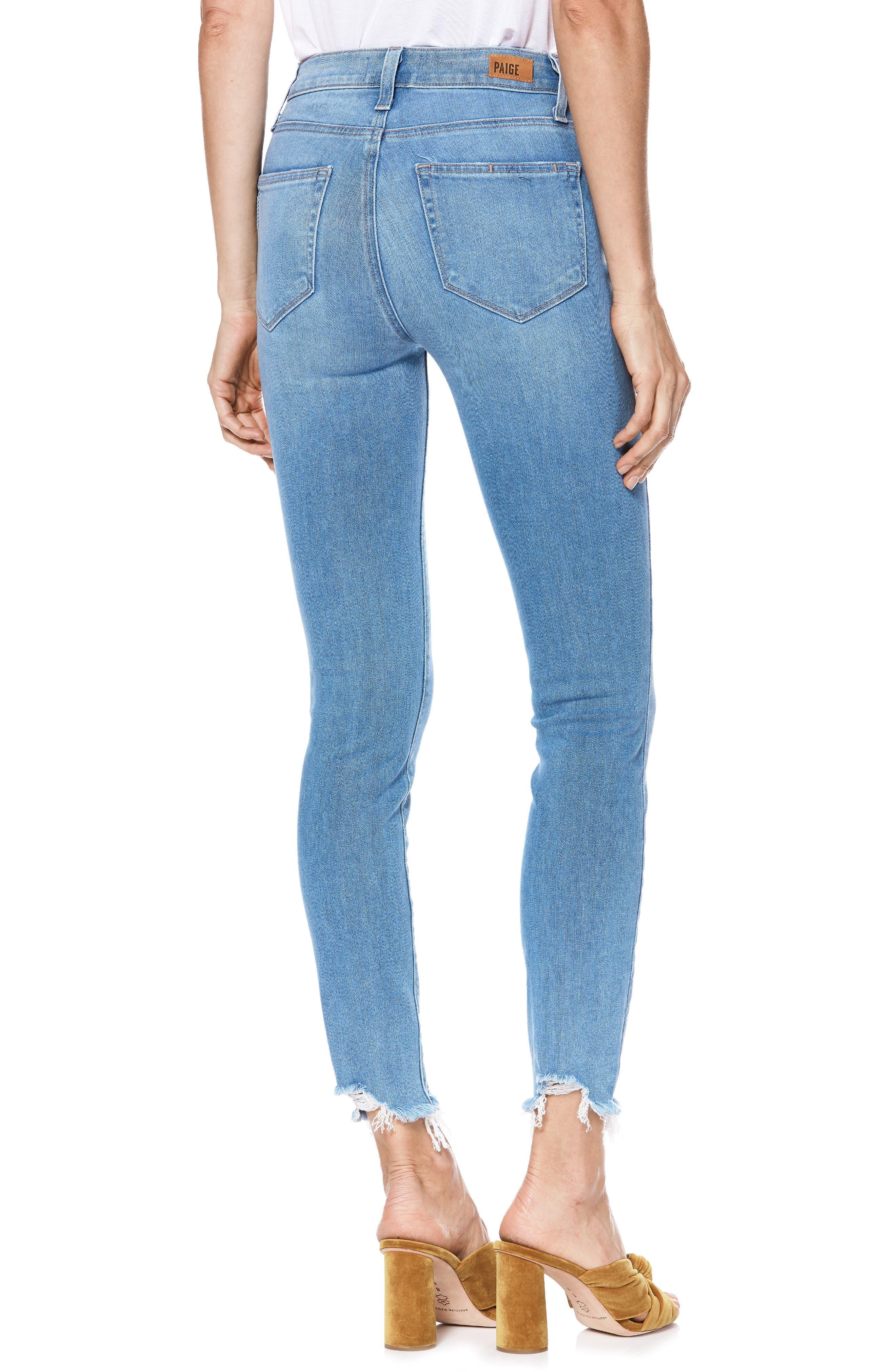 Transcend Vintage - Hoxton High Waist Ripped Crop Skinny Jeans,                             Alternate thumbnail 2, color,                             ALAMEDA