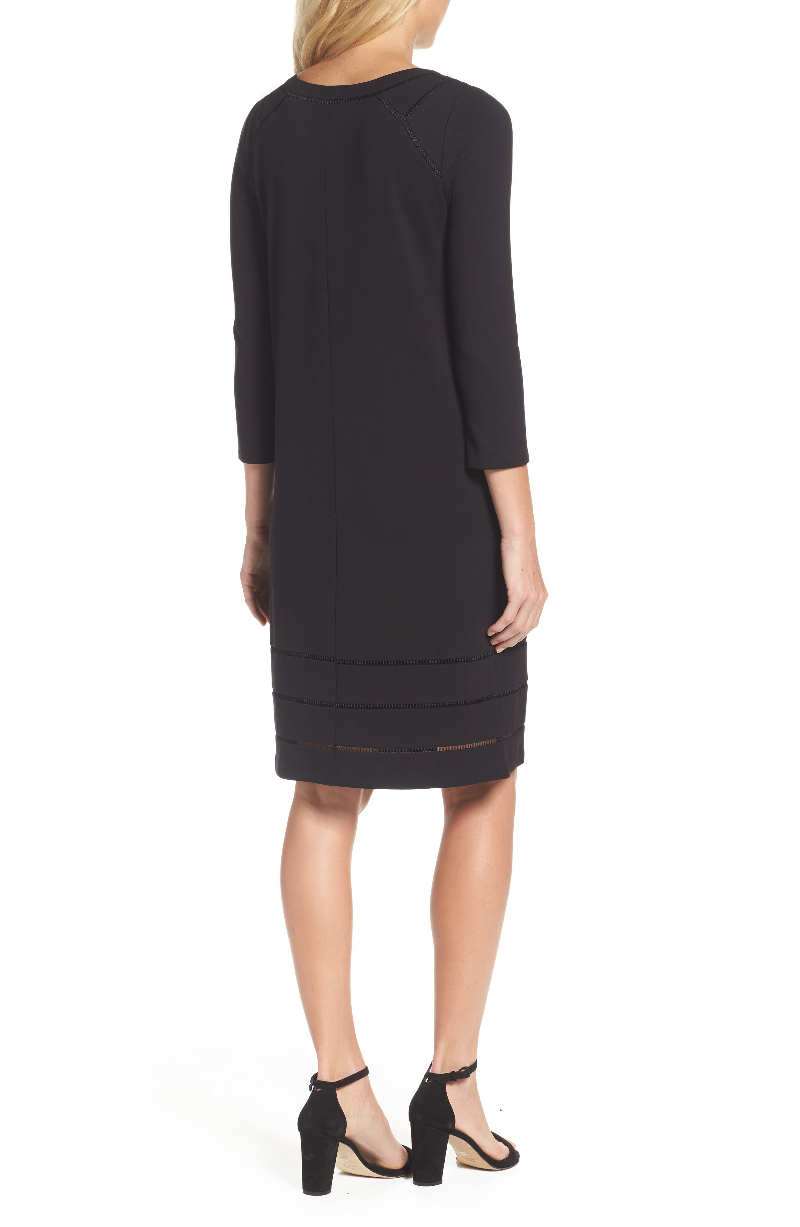 Everyday Ponte Knit Shift Dress,                             Alternate thumbnail 2, color,                             004