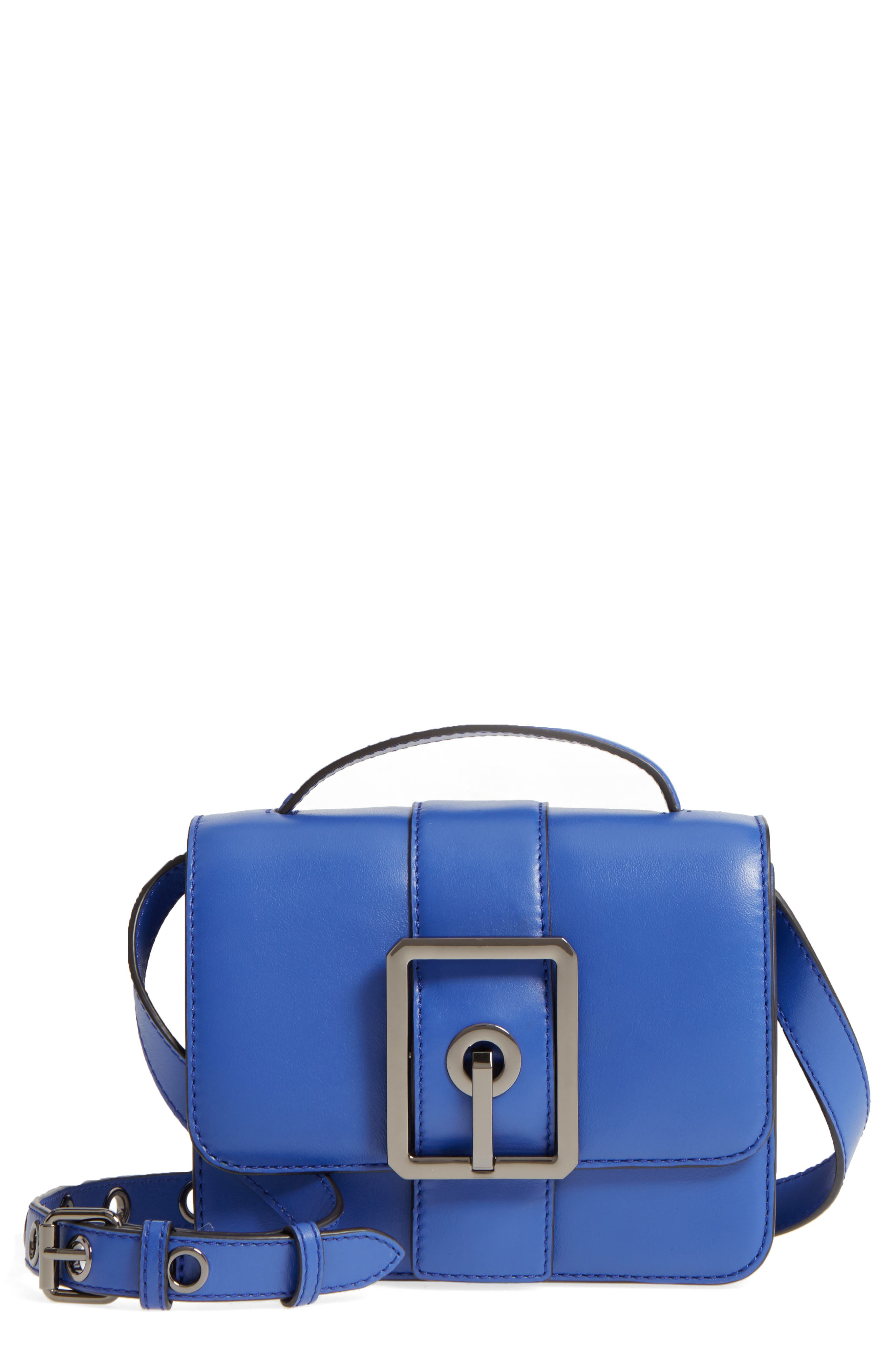 Small Hook Up Leather Top Handle Satchel,                             Main thumbnail 1, color,                             500