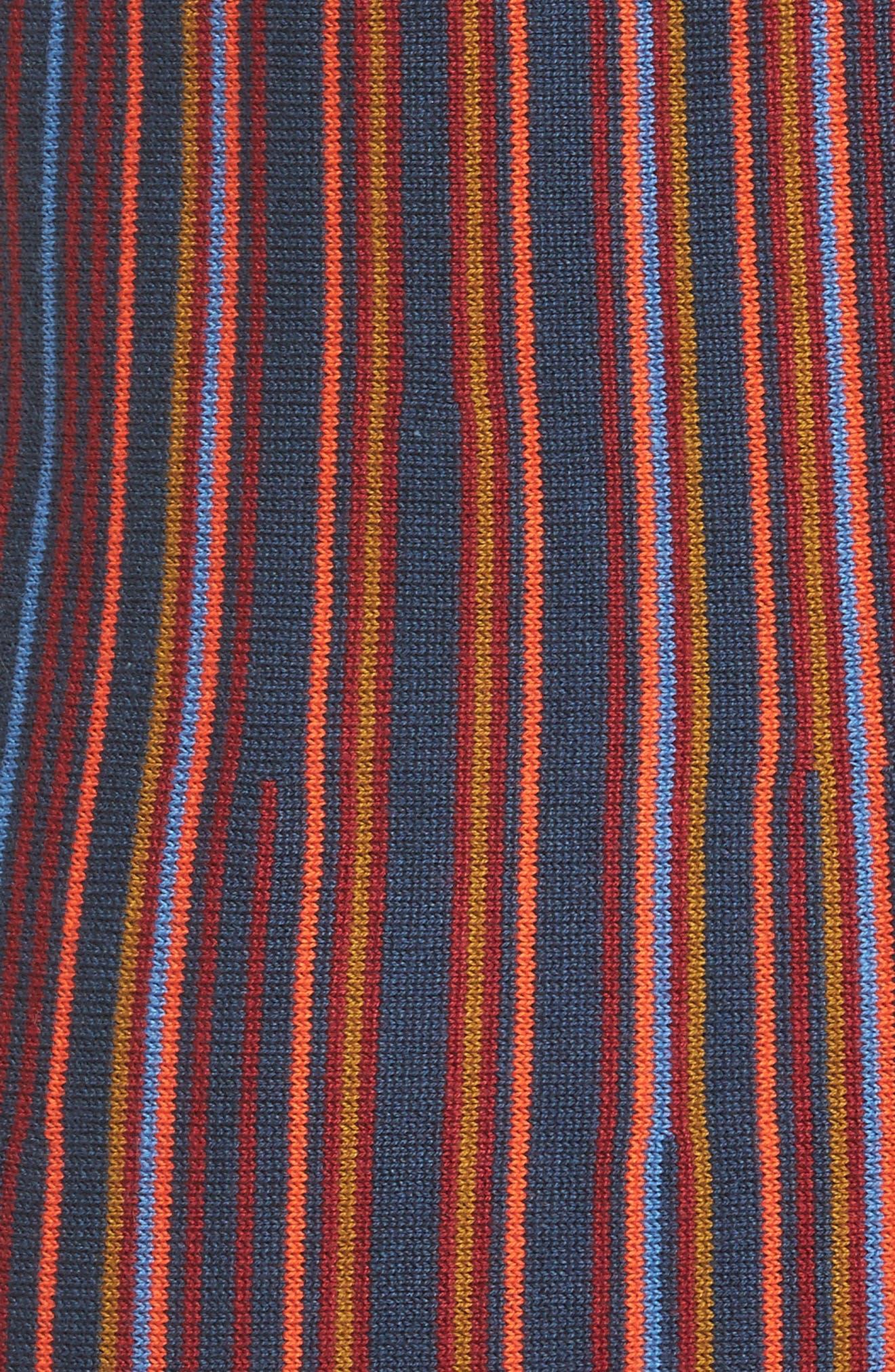 Foolish Stripe Knit Dress,                             Alternate thumbnail 5, color,                             930