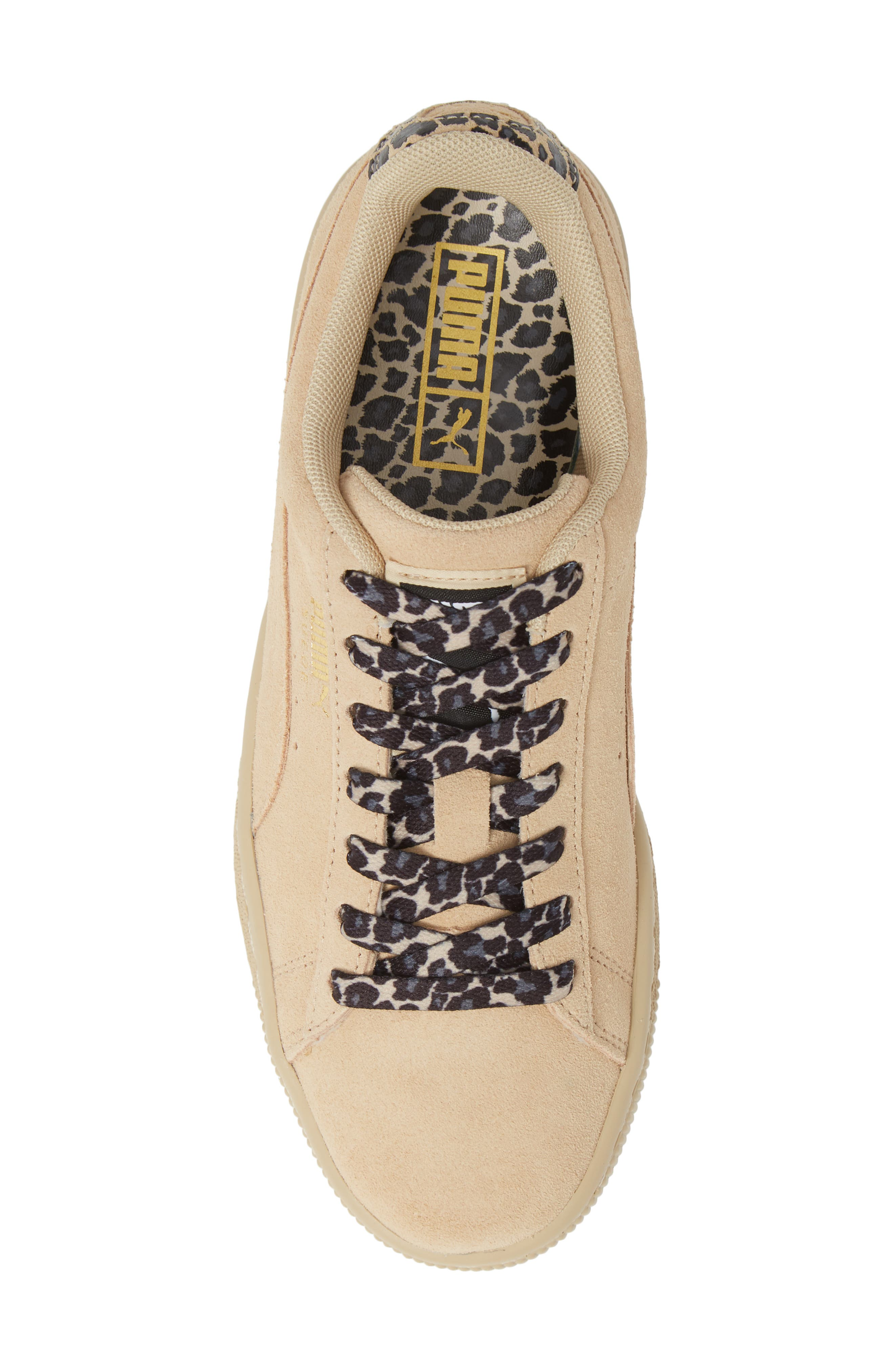 Suede Wild Sneaker,                             Alternate thumbnail 5, color,                             BLACK/ TEAM GOLD/ PEBBLE