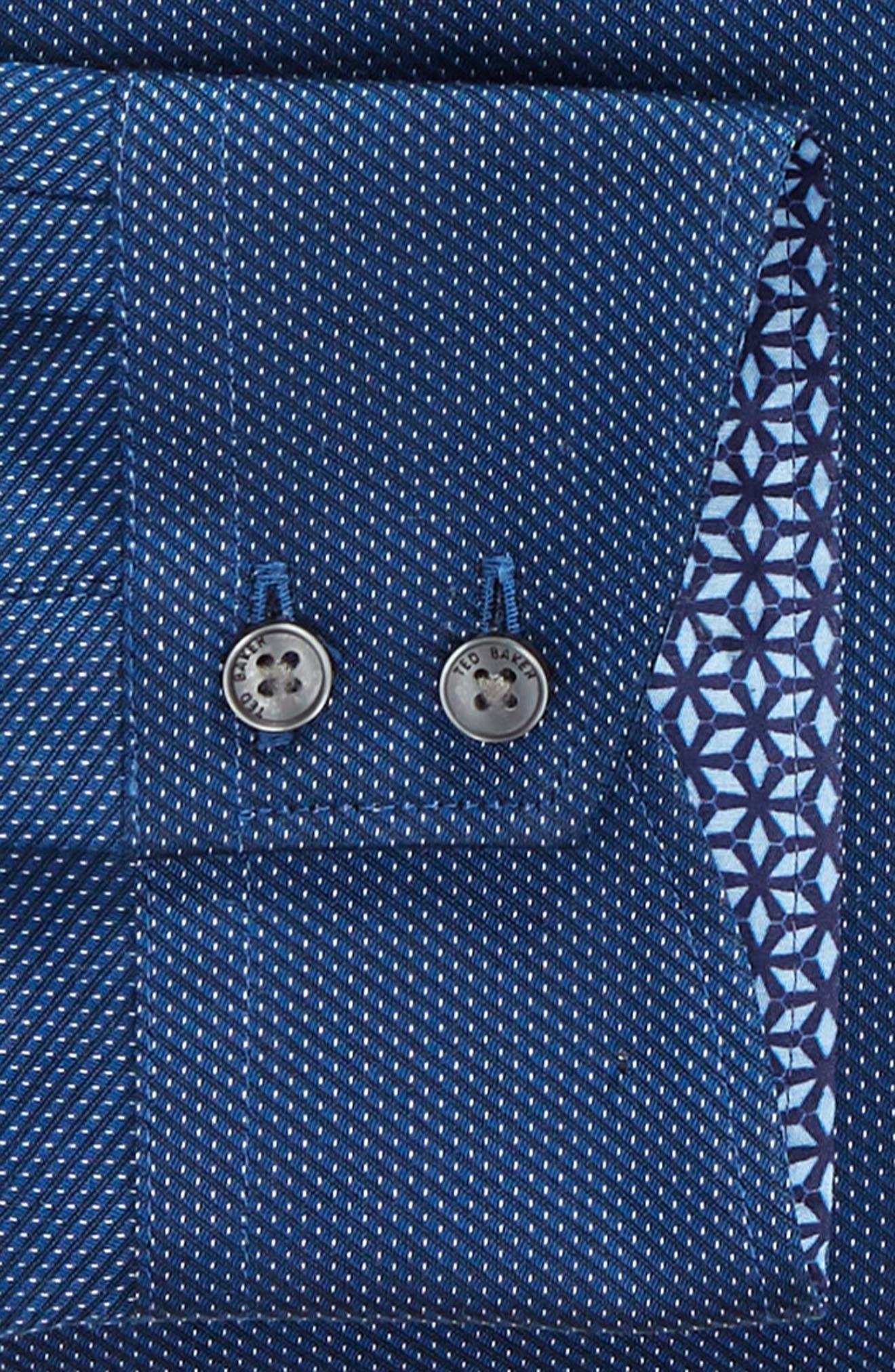 TED BAKER LONDON,                             Wikks Slim Fit Print Dress Shirt,                             Alternate thumbnail 6, color,                             410