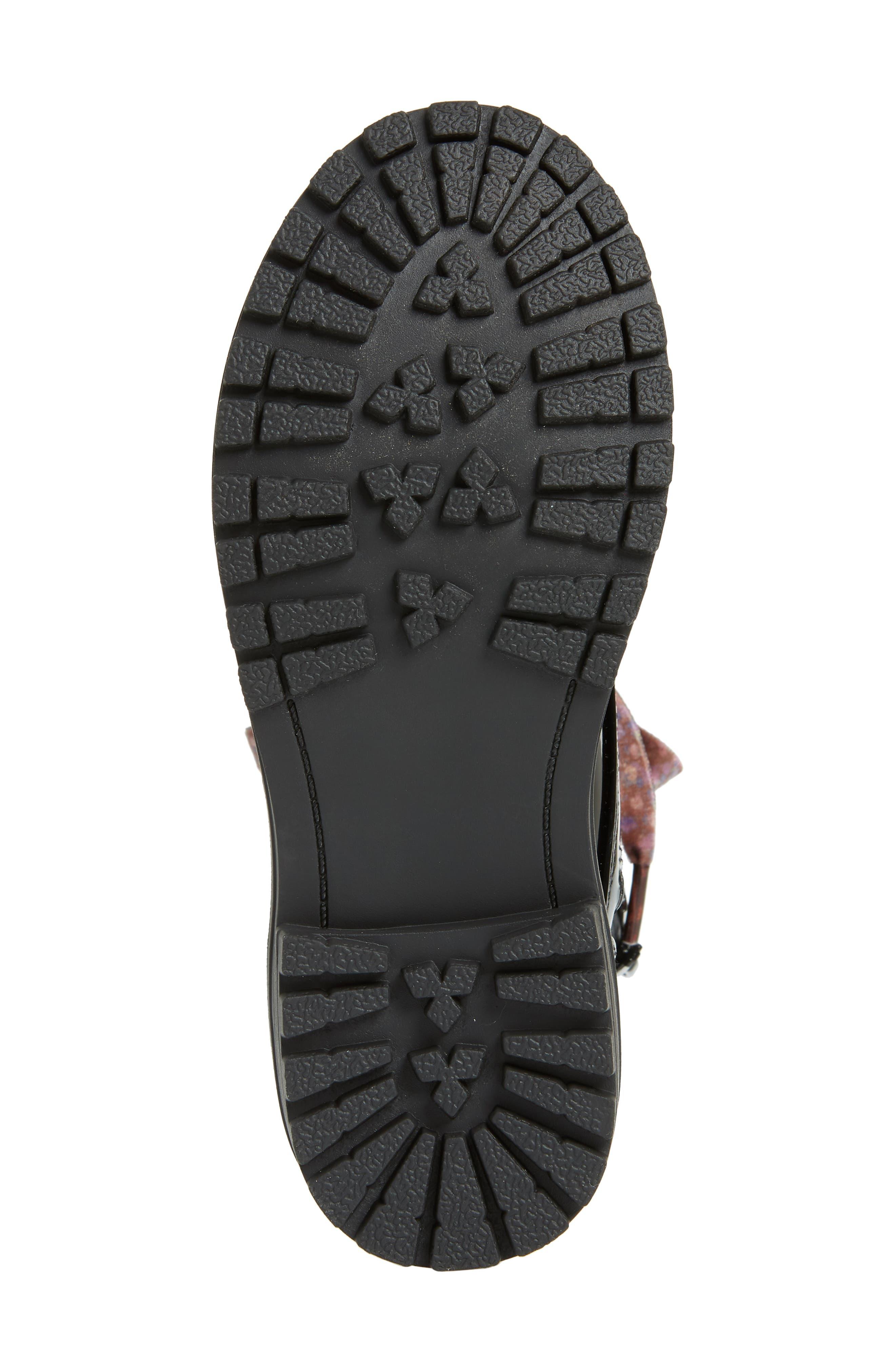 Bristol Hiking Boot,                             Alternate thumbnail 3, color,                             BLACK PATENT FAUX LEATHER